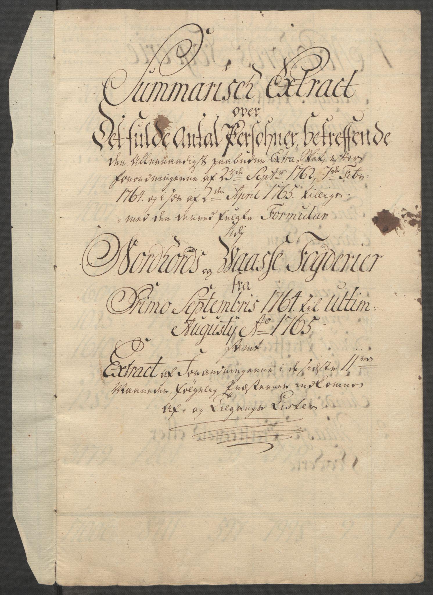 RA, Rentekammeret inntil 1814, Reviderte regnskaper, Fogderegnskap, R51/L3303: Ekstraskatten Nordhordland og Voss, 1762-1772, s. 97
