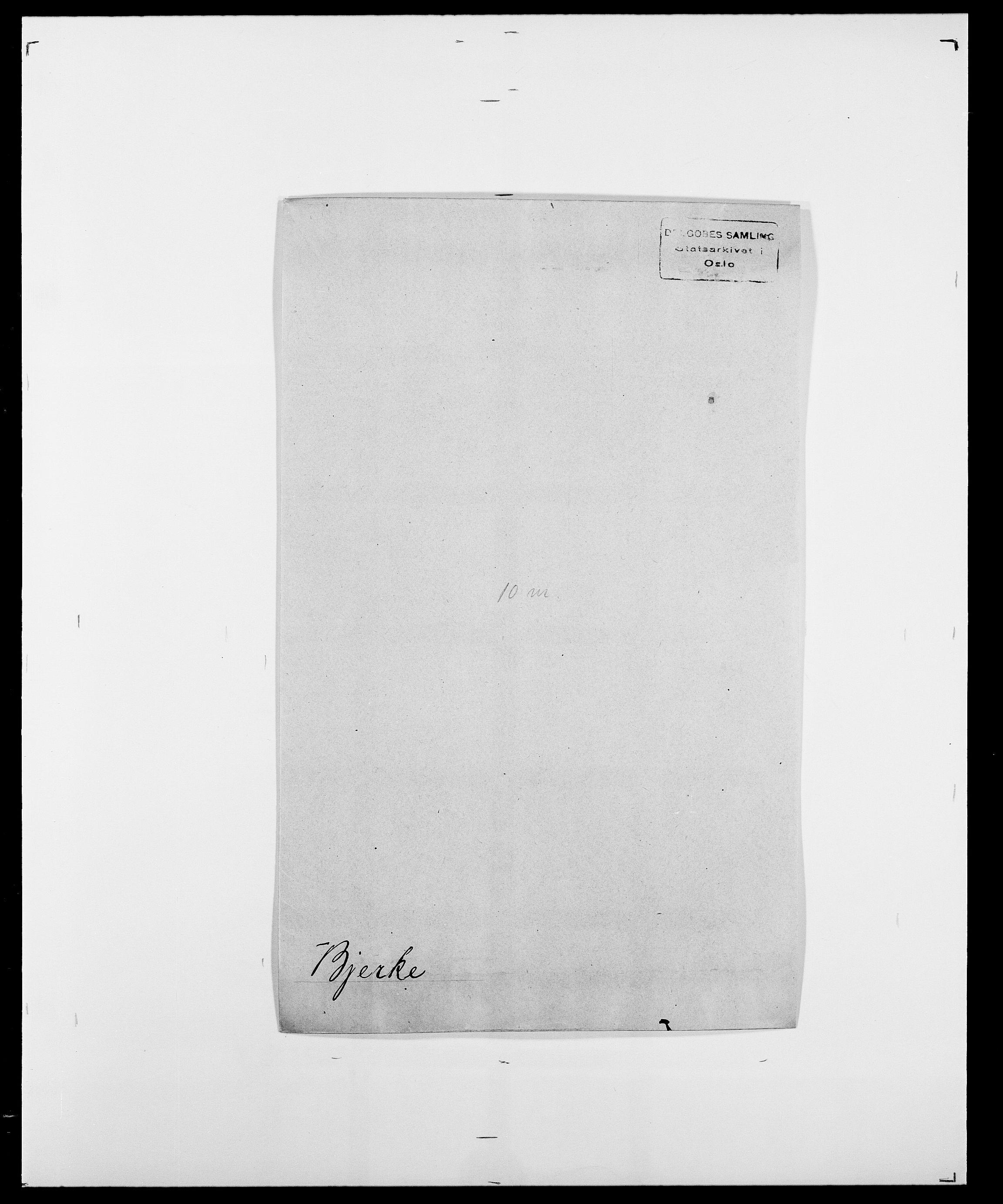 SAO, Delgobe, Charles Antoine - samling, D/Da/L0004: Bergendahl - Blære, s. 417