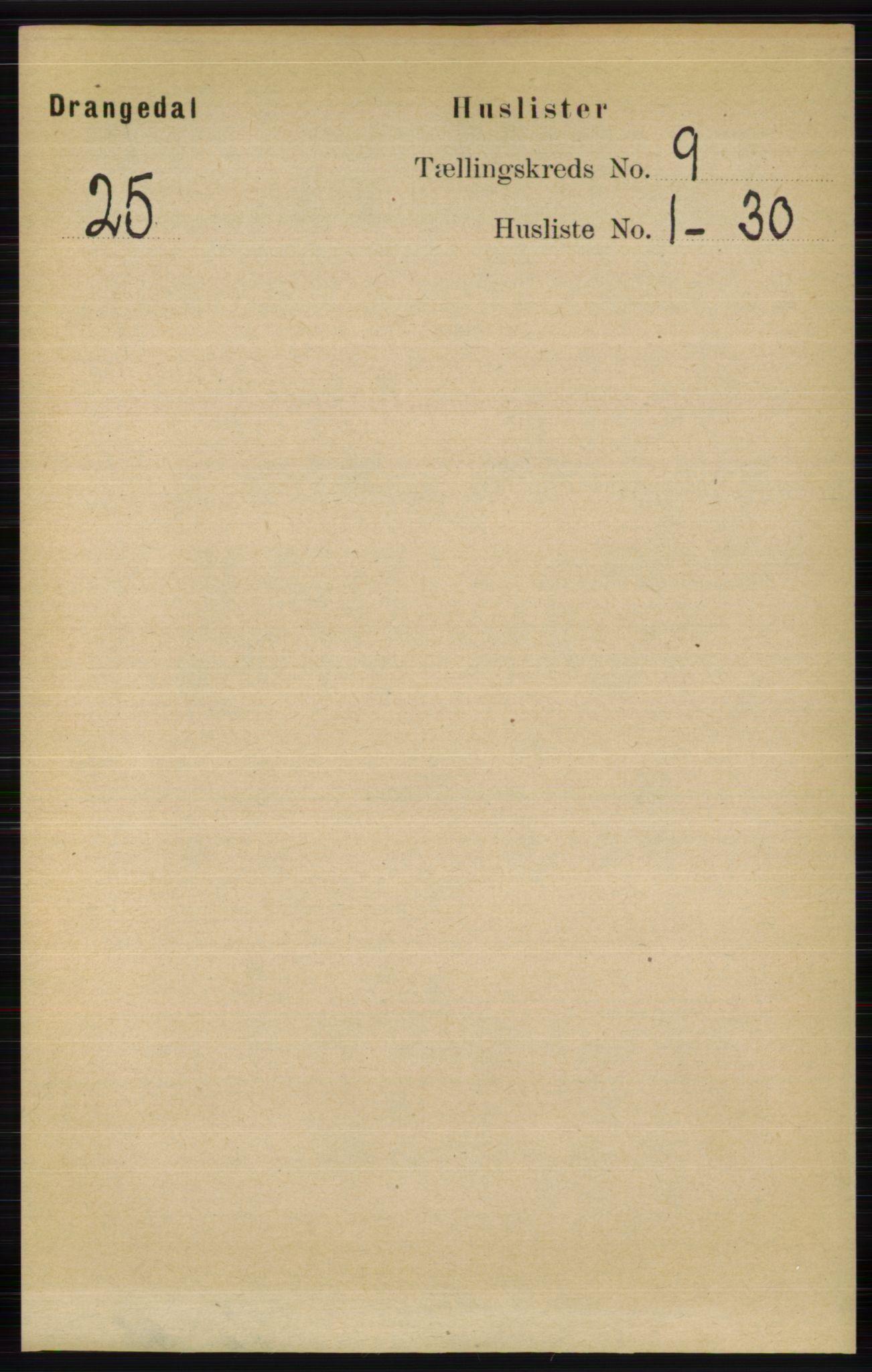 RA, Folketelling 1891 for 0817 Drangedal herred, 1891, s. 3090