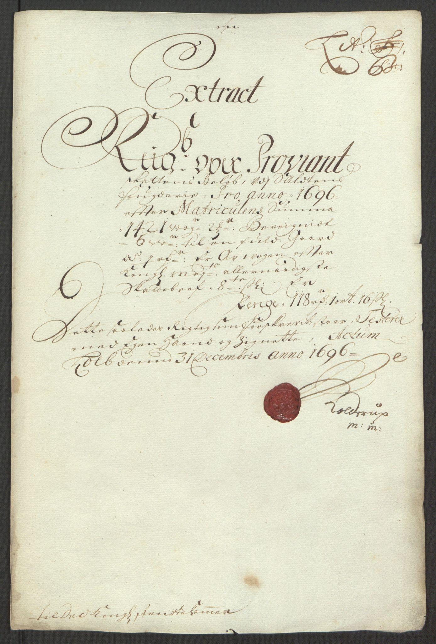 RA, Rentekammeret inntil 1814, Reviderte regnskaper, Fogderegnskap, R66/L4578: Fogderegnskap Salten, 1694-1696, s. 234