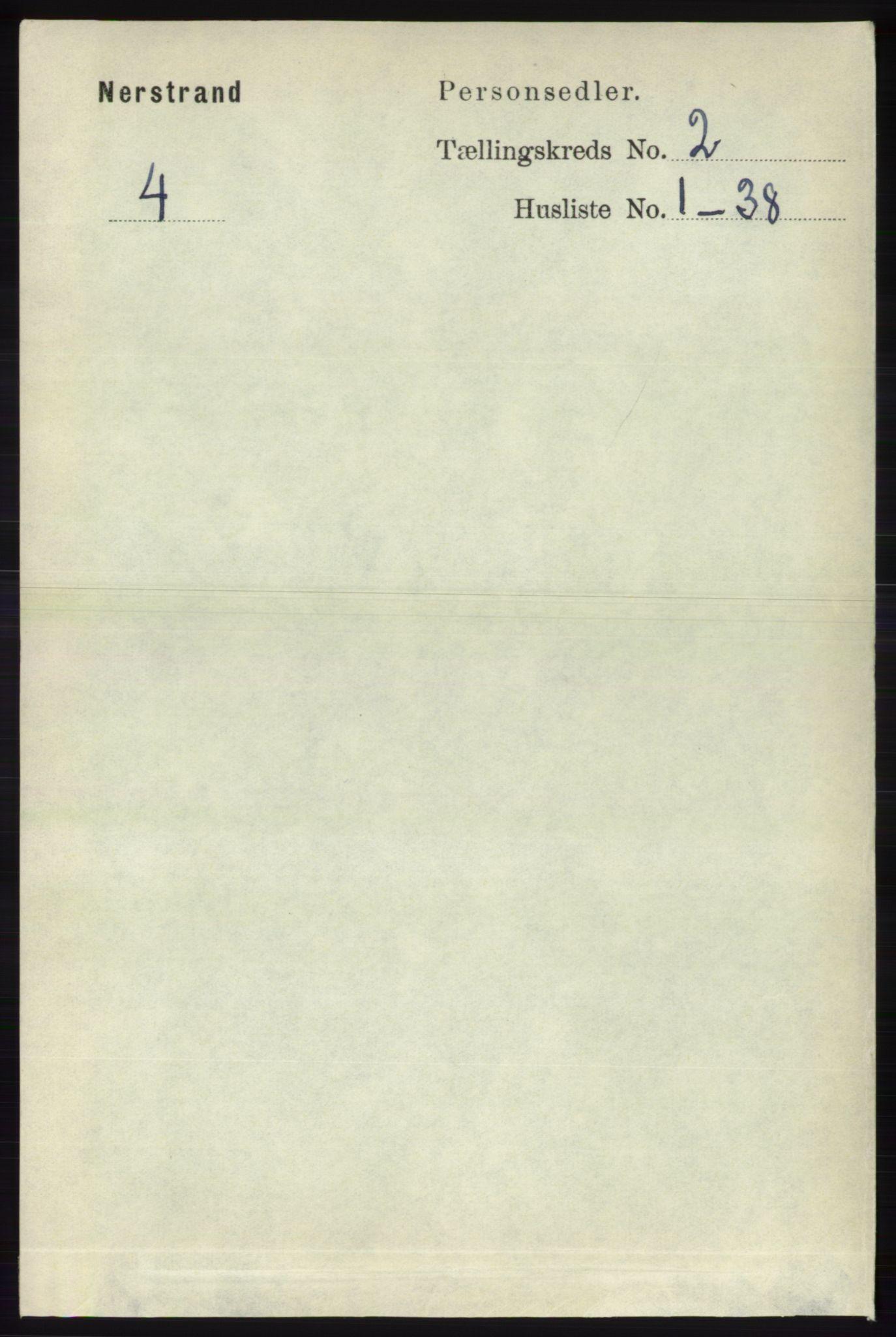 RA, Folketelling 1891 for 1139 Nedstrand herred, 1891, s. 245