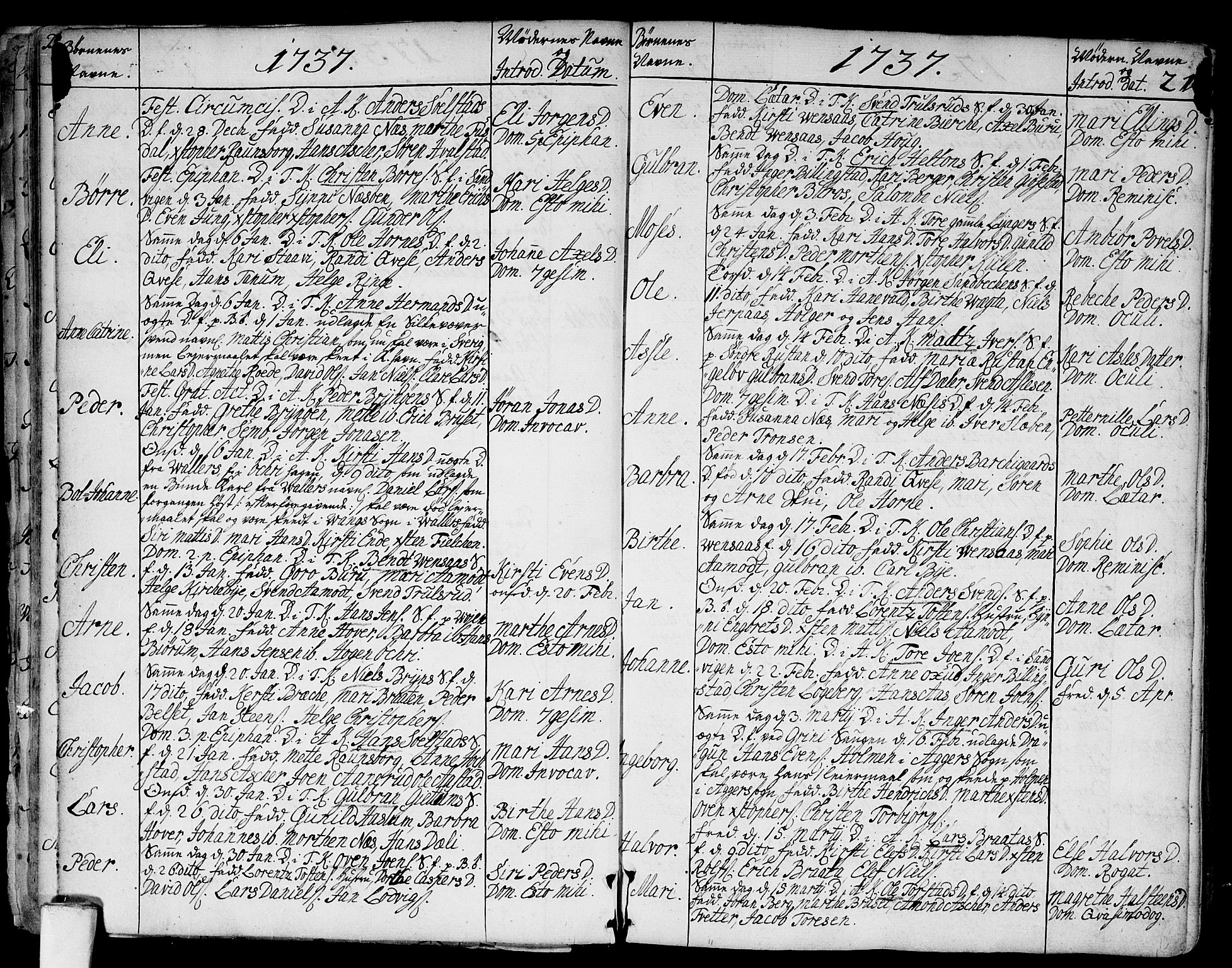 SAO, Asker prestekontor Kirkebøker, F/Fa/L0002: Ministerialbok nr. I 2, 1733-1766, s. 21