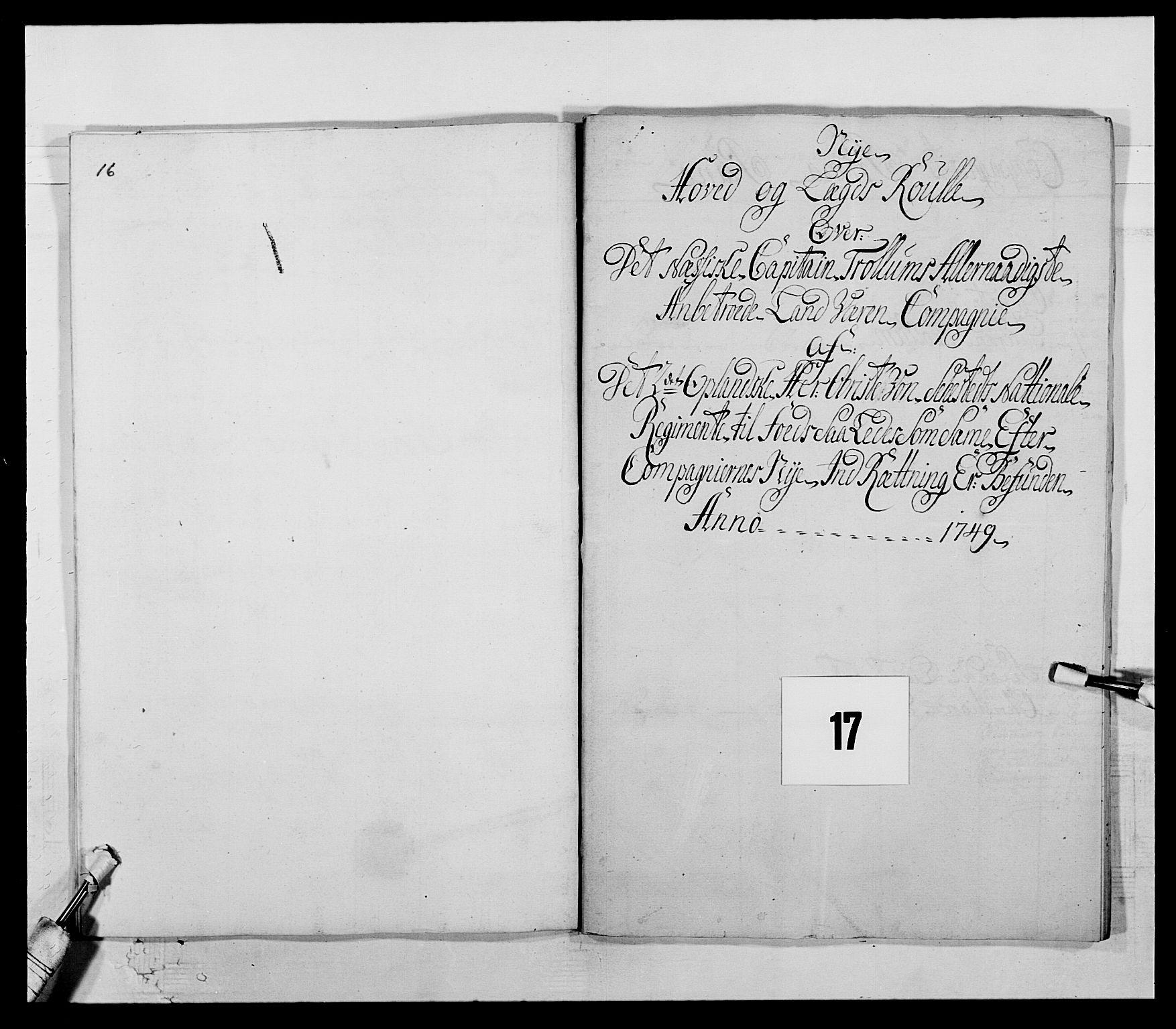 RA, Kommanderende general (KG I) med Det norske krigsdirektorium, E/Ea/L0505: 2. Opplandske regiment, 1748, s. 466