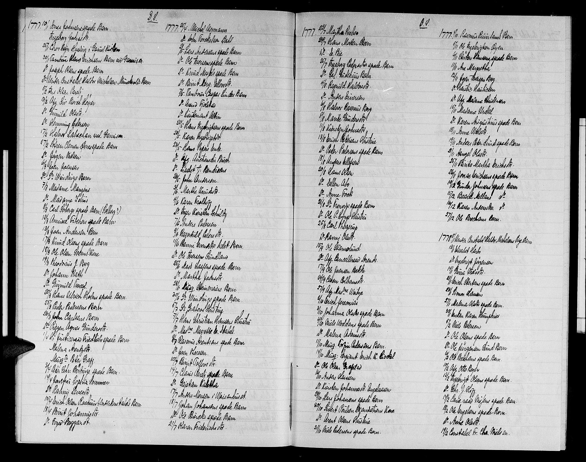 SAT, Arkivreferanse ukjent**, Annen kirkebok nr. uten nr., 1762-1783