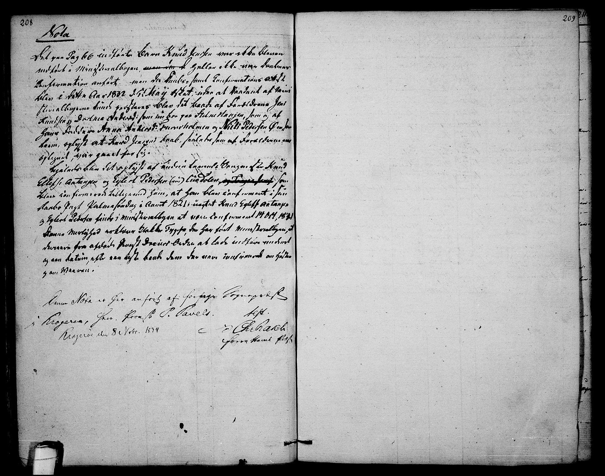 SAKO, Sannidal kirkebøker, F/Fa/L0003: Ministerialbok nr. 3, 1803-1813, s. 208-209