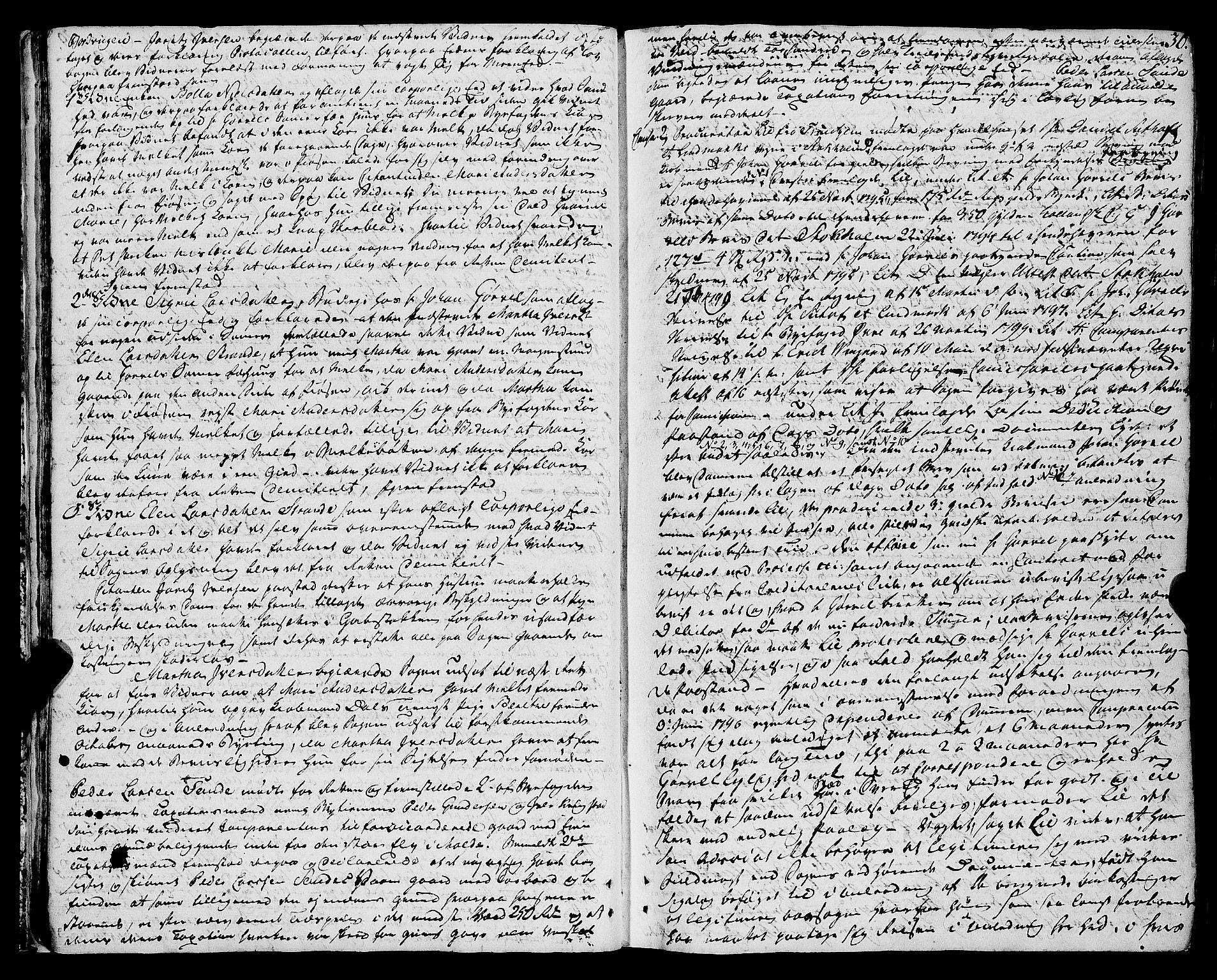SAT, Molde byfogd, 1/1A/L0002: Justisprotokoll, 1797-1831, s. 29b-30a
