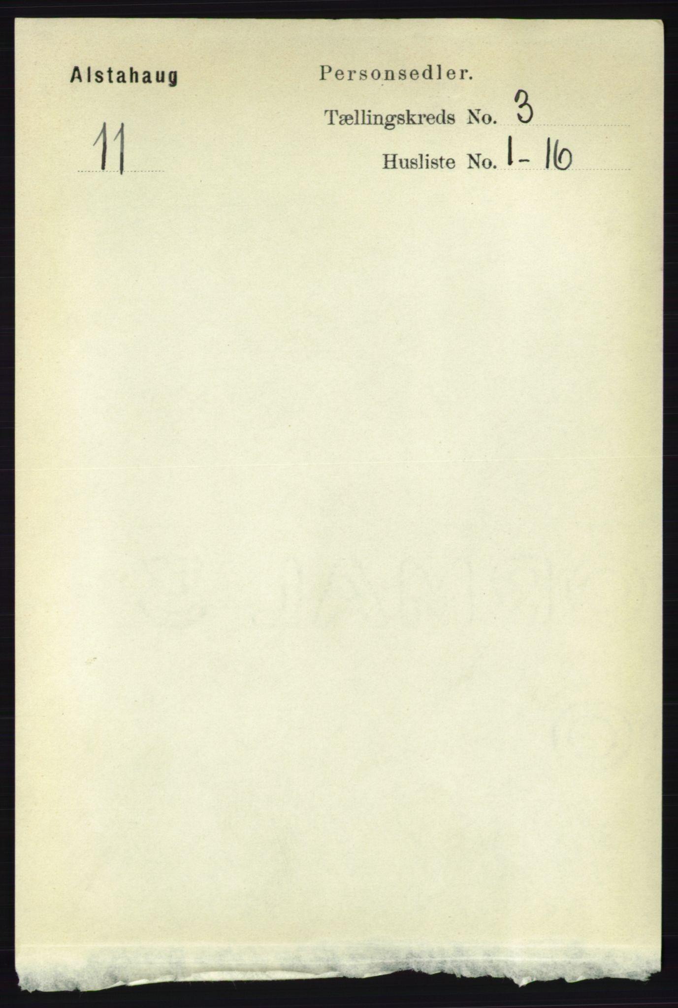 RA, Folketelling 1891 for 1820 Alstahaug herred, 1891, s. 1093