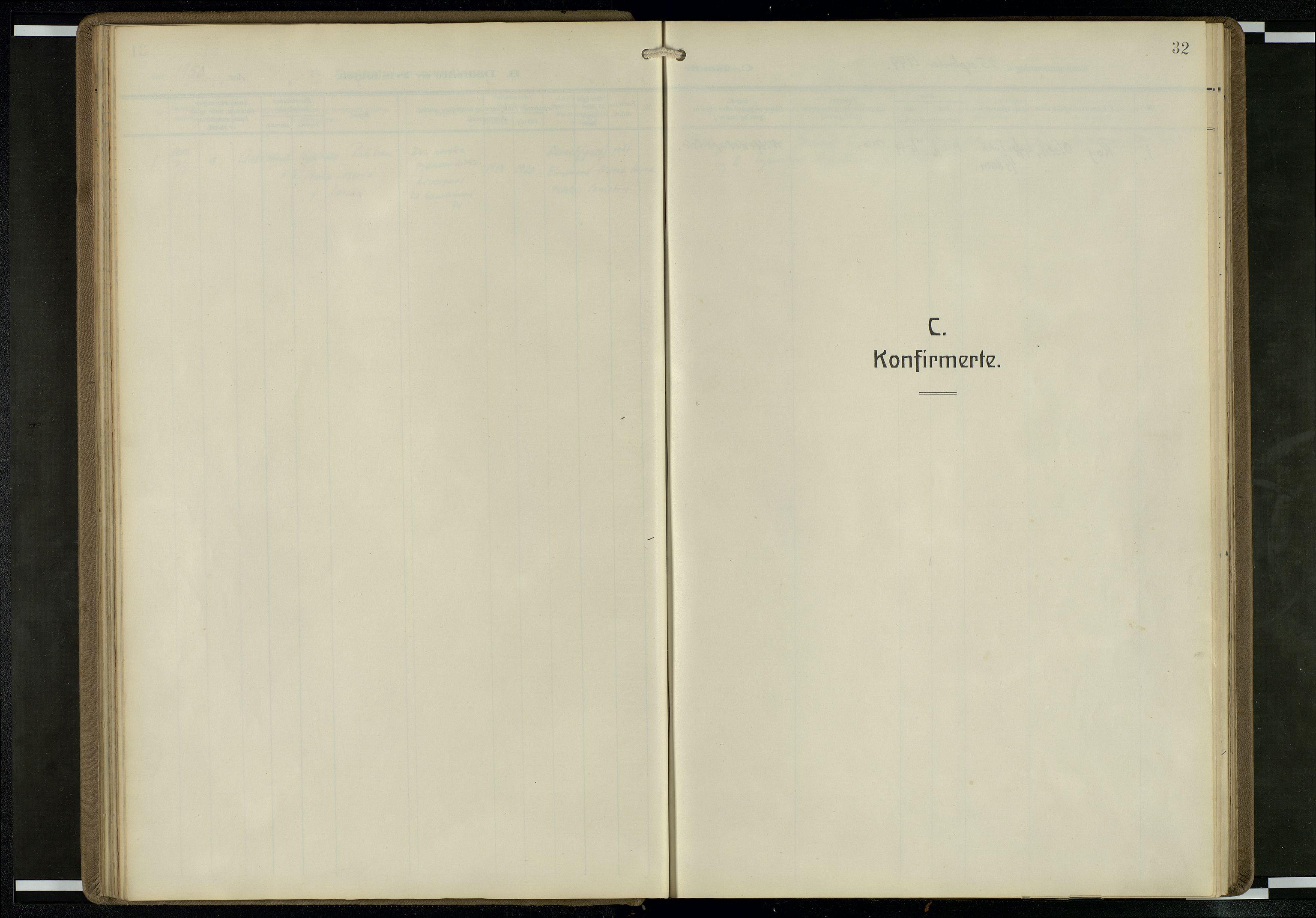 SAB, Privatarkiv 104 - Den norske sjømannsmisjon i utlandet/Mersey-havnene (Liverpool), H/Ha/L0001: Ministerialbok nr. A 1, 1919-1954, s. 31b-32a