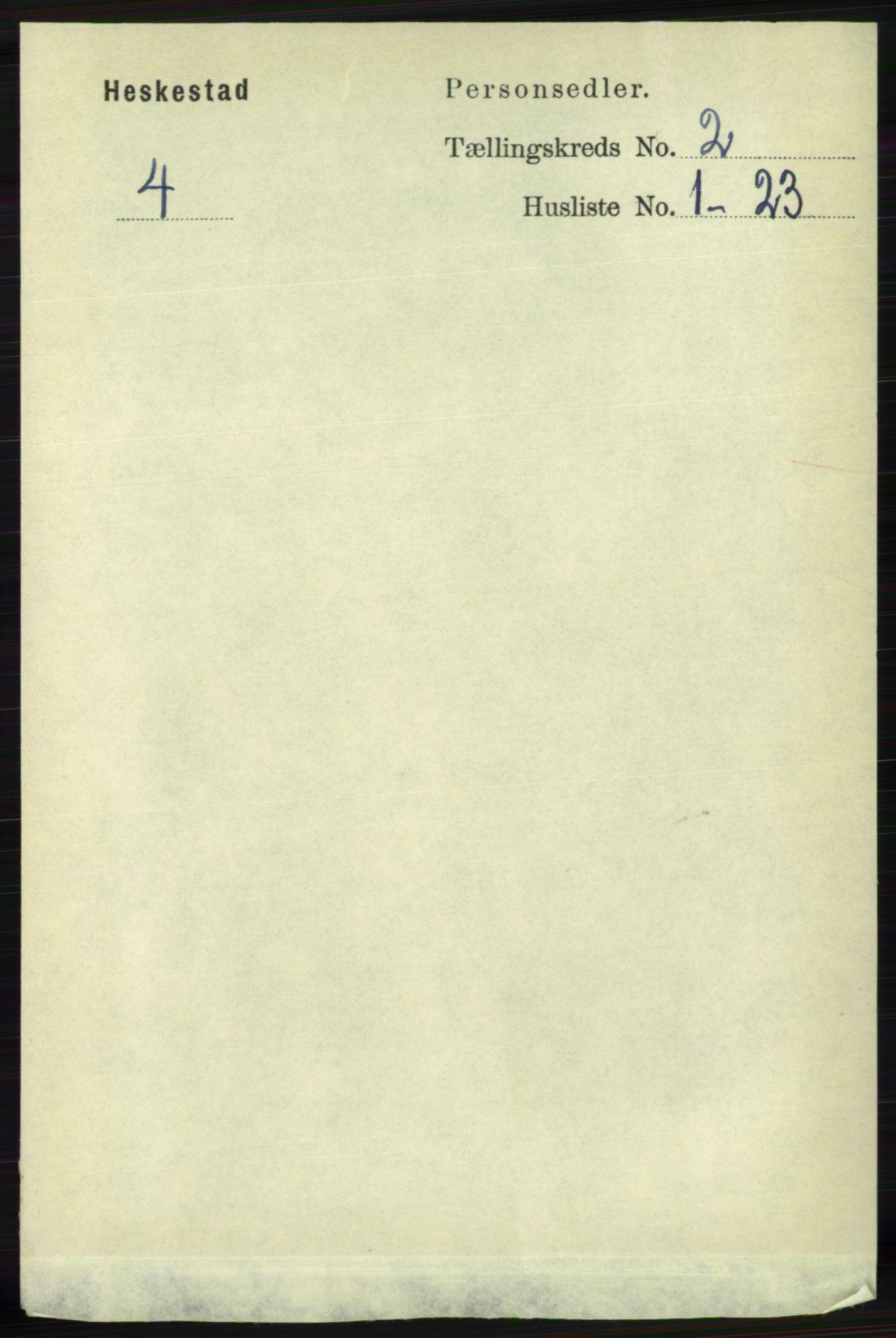 RA, Folketelling 1891 for 1113 Heskestad herred, 1891, s. 270