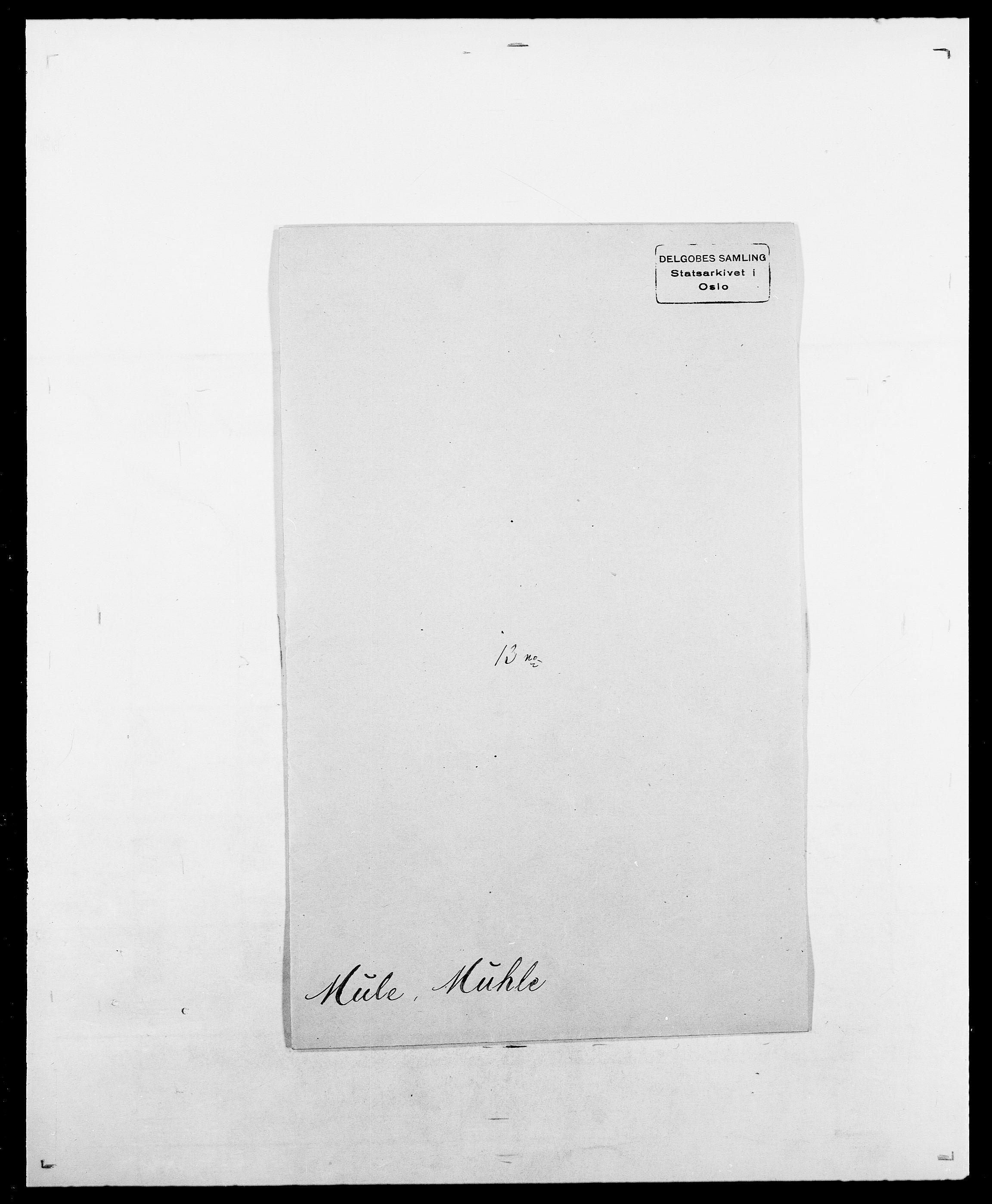 SAO, Delgobe, Charles Antoine - samling, D/Da/L0027: Morath - v. Møsting, s. 122
