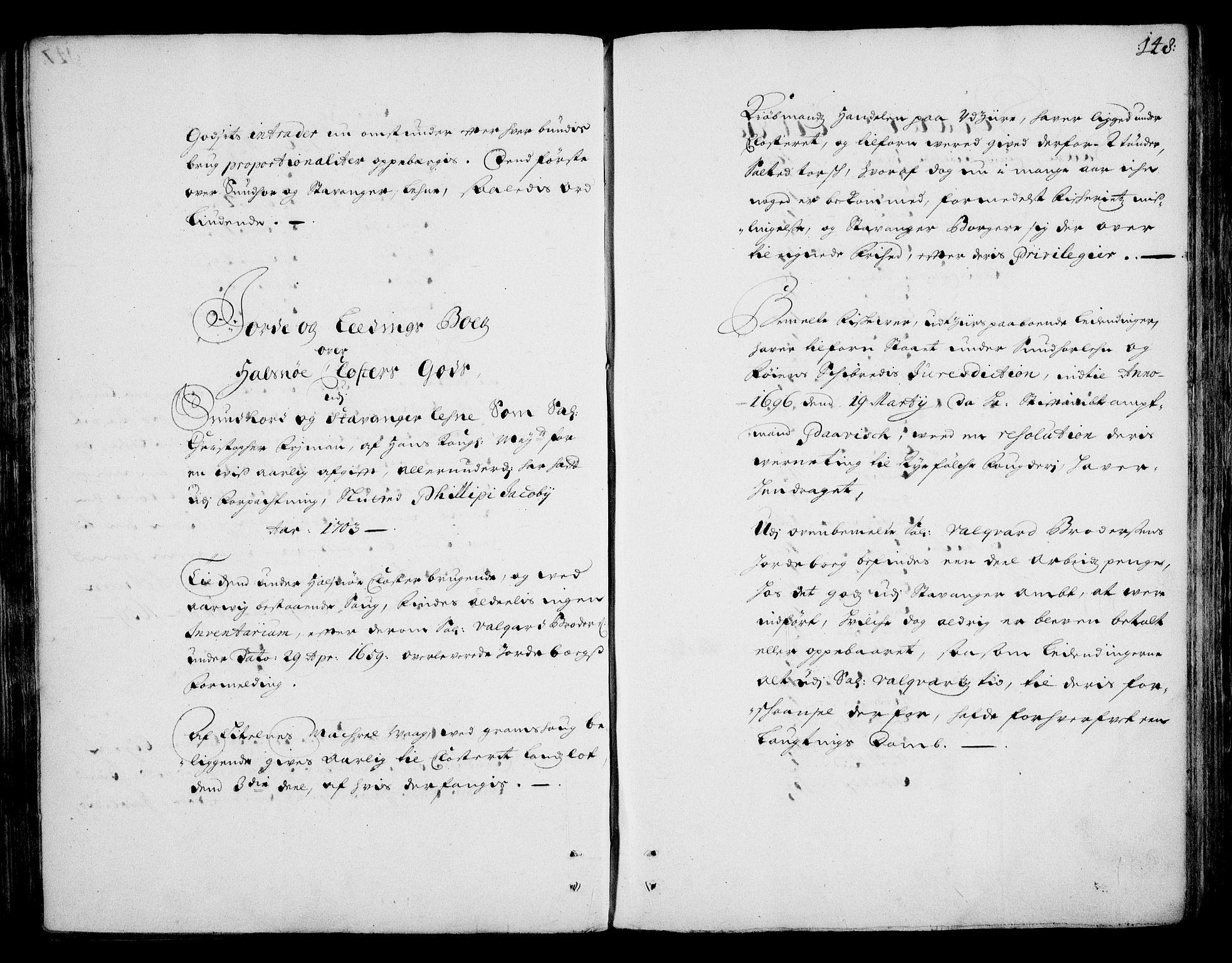 RA, Rentekammeret inntil 1814, Realistisk ordnet avdeling, On/L0002: [Jj 3]: Besiktigelsesforretninger over Halsnøy klosters gods, 1659-1703, s. 147b-148a