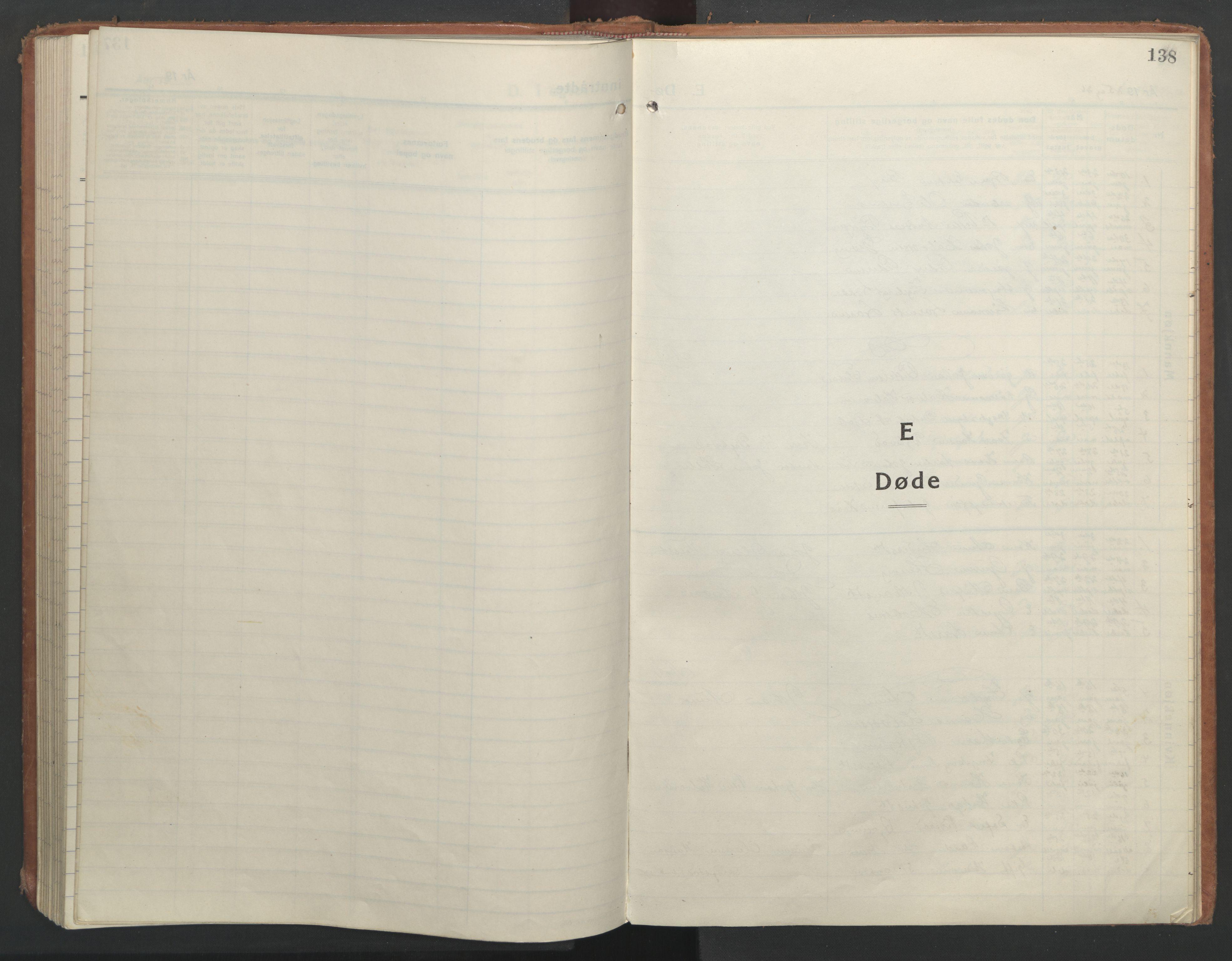 SAT, Ministerialprotokoller, klokkerbøker og fødselsregistre - Nord-Trøndelag, 710/L0097: Klokkerbok nr. 710C02, 1925-1955, s. 138