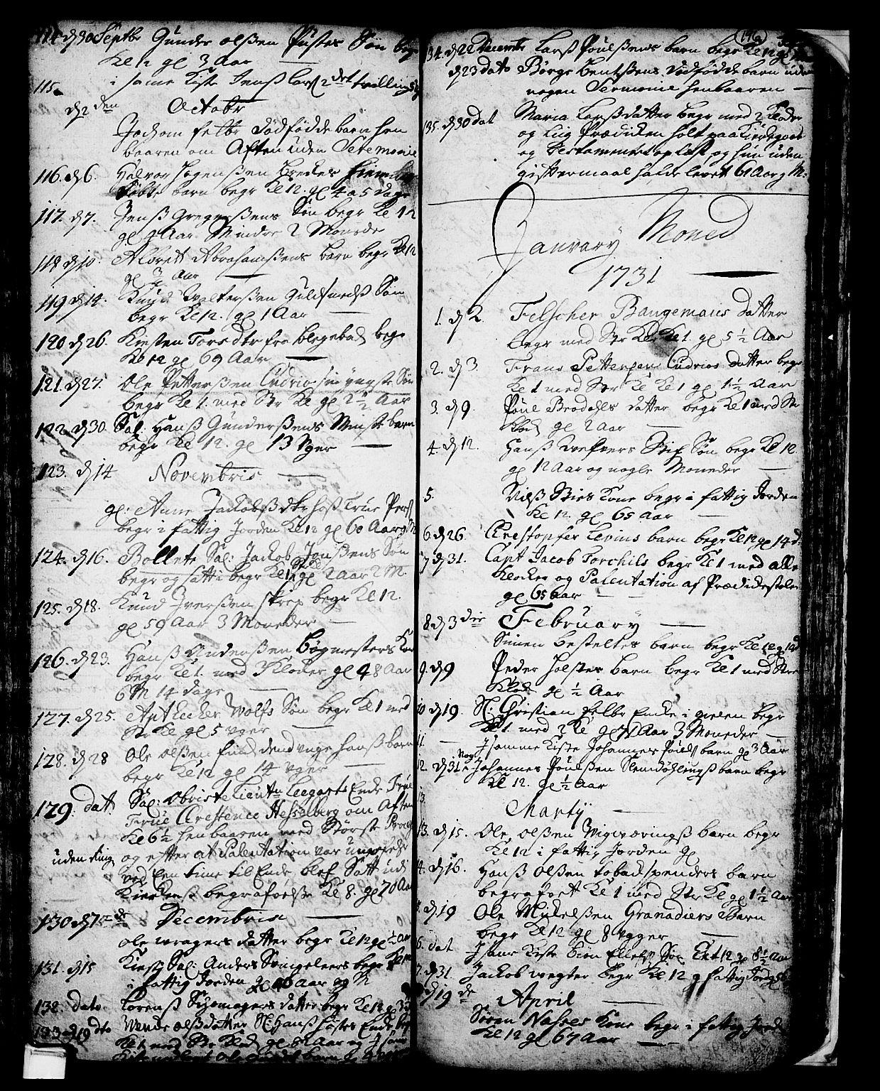 SAKO, Skien kirkebøker, F/Fa/L0002: Ministerialbok nr. 2, 1716-1757, s. 196