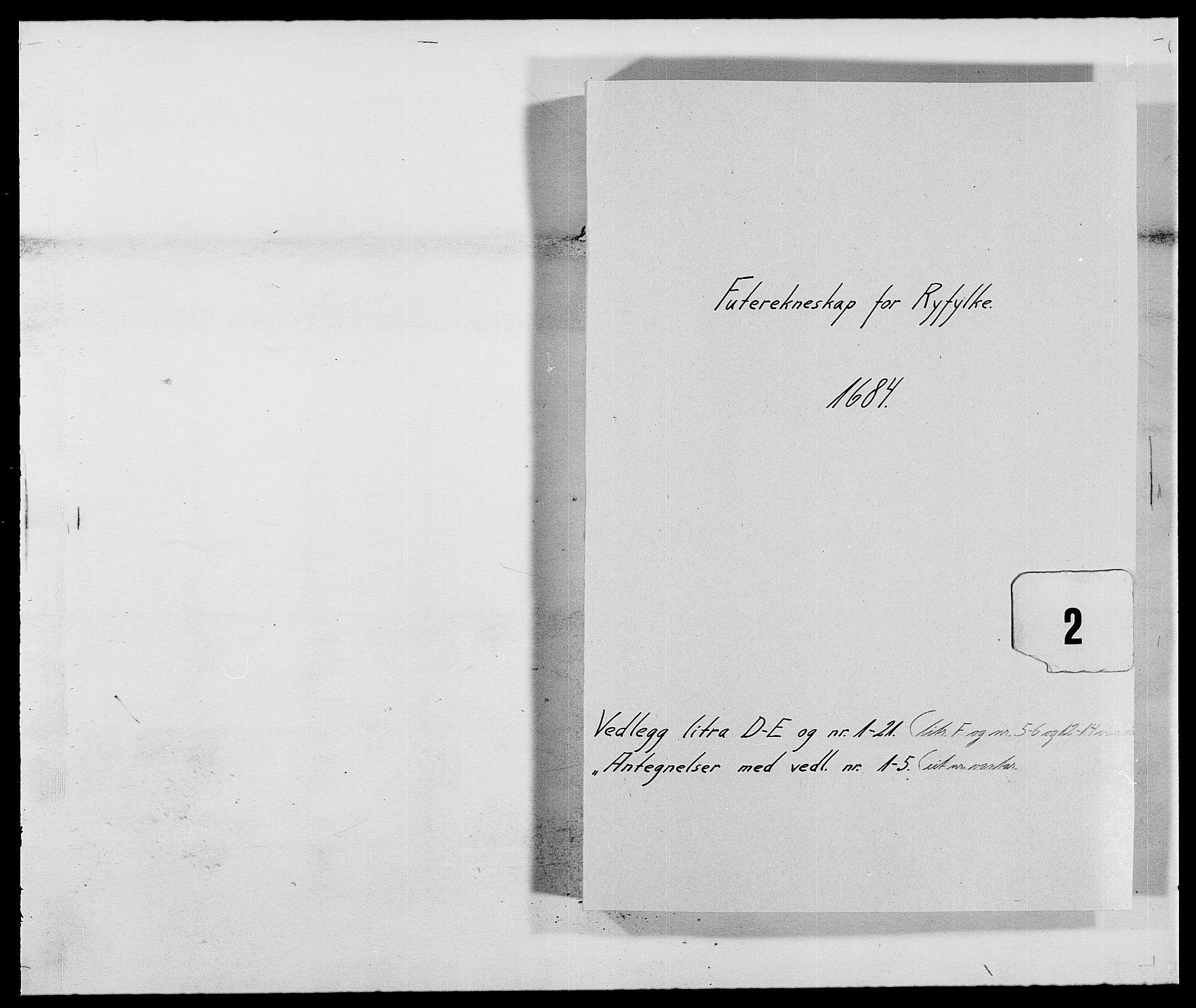 RA, Rentekammeret inntil 1814, Reviderte regnskaper, Fogderegnskap, R47/L2854: Fogderegnskap Ryfylke, 1684, s. 210