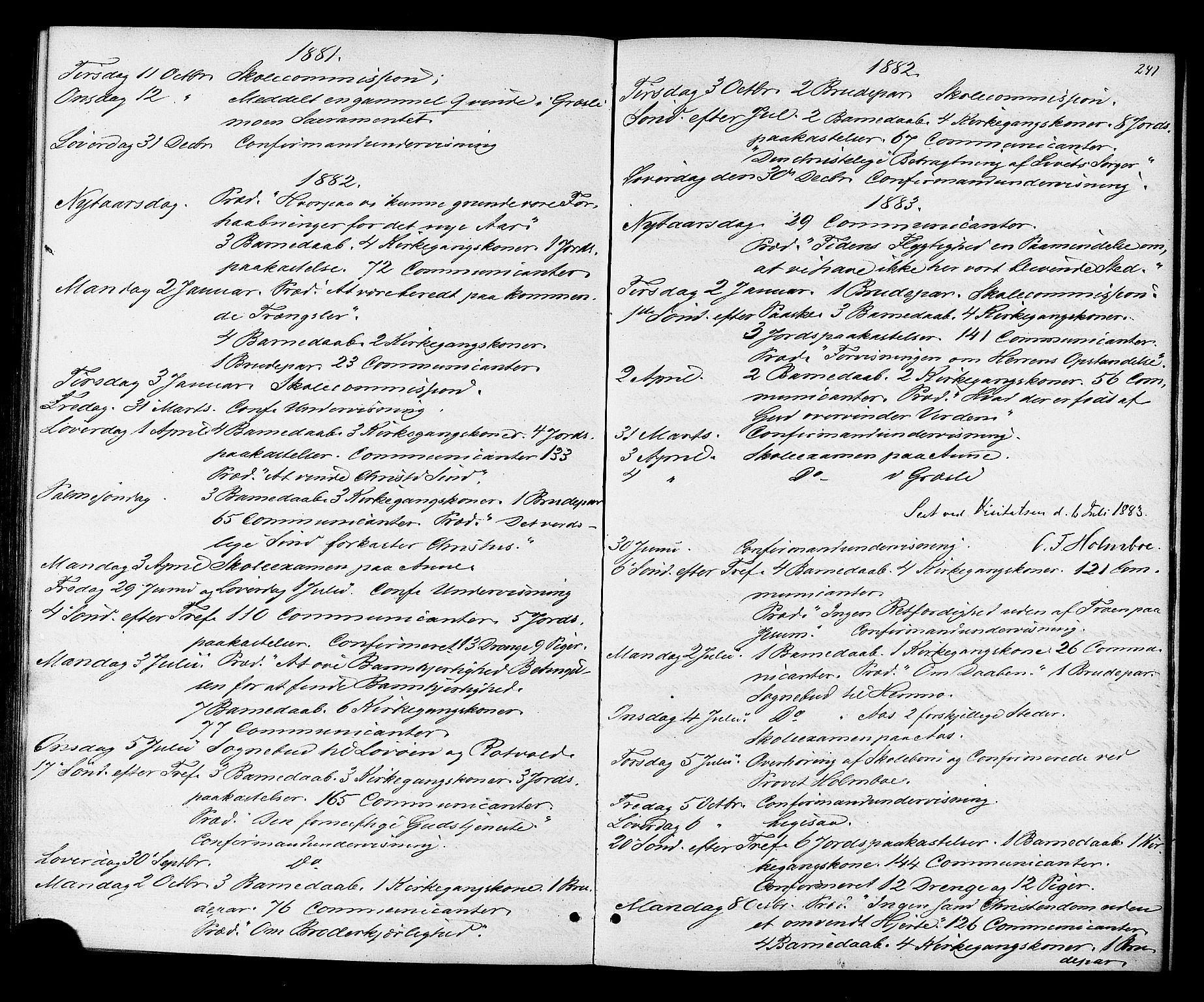 SAT, Ministerialprotokoller, klokkerbøker og fødselsregistre - Sør-Trøndelag, 698/L1163: Ministerialbok nr. 698A01, 1862-1887, s. 241