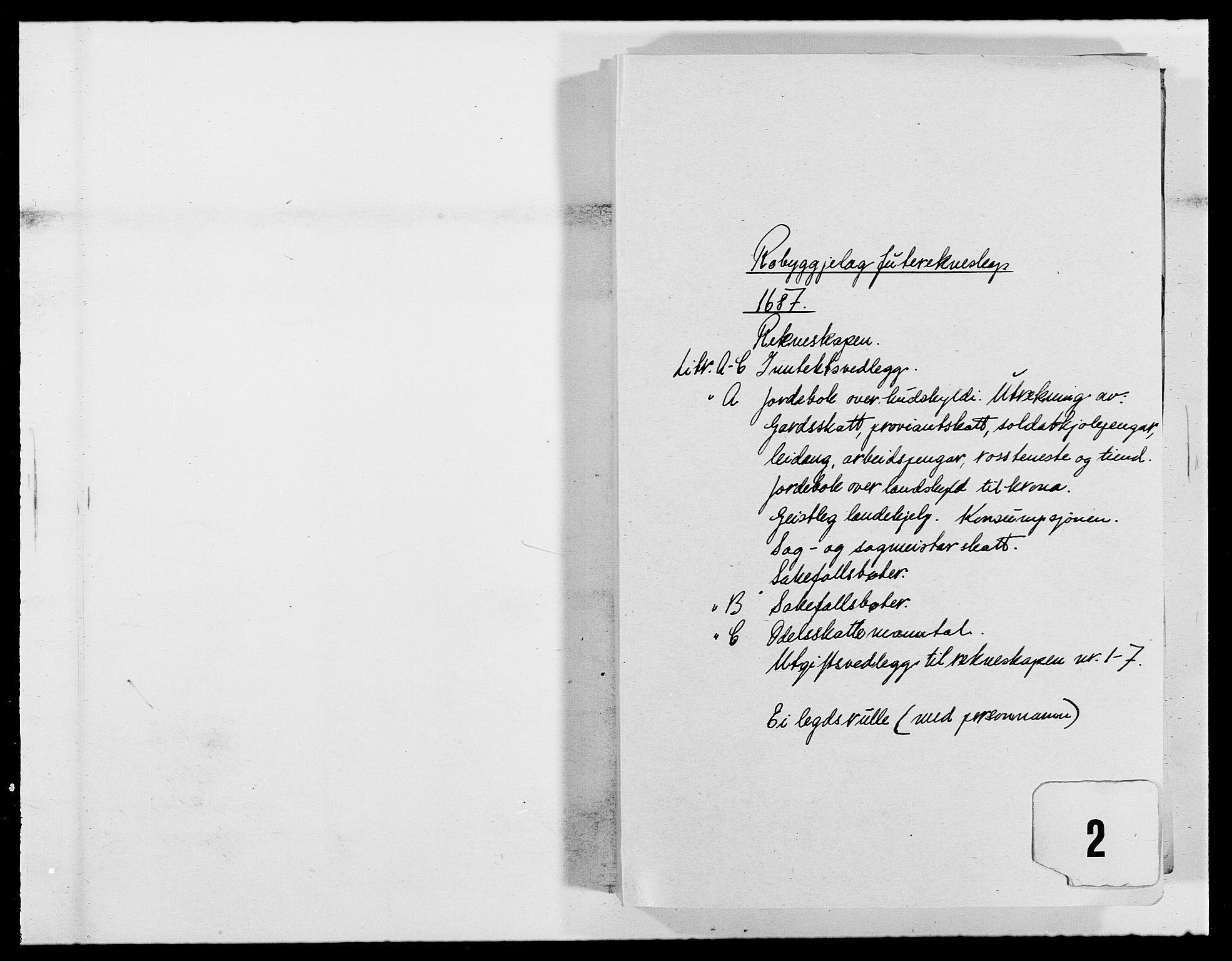 RA, Rentekammeret inntil 1814, Reviderte regnskaper, Fogderegnskap, R40/L2440: Fogderegnskap Råbyggelag, 1686-1687, s. 107