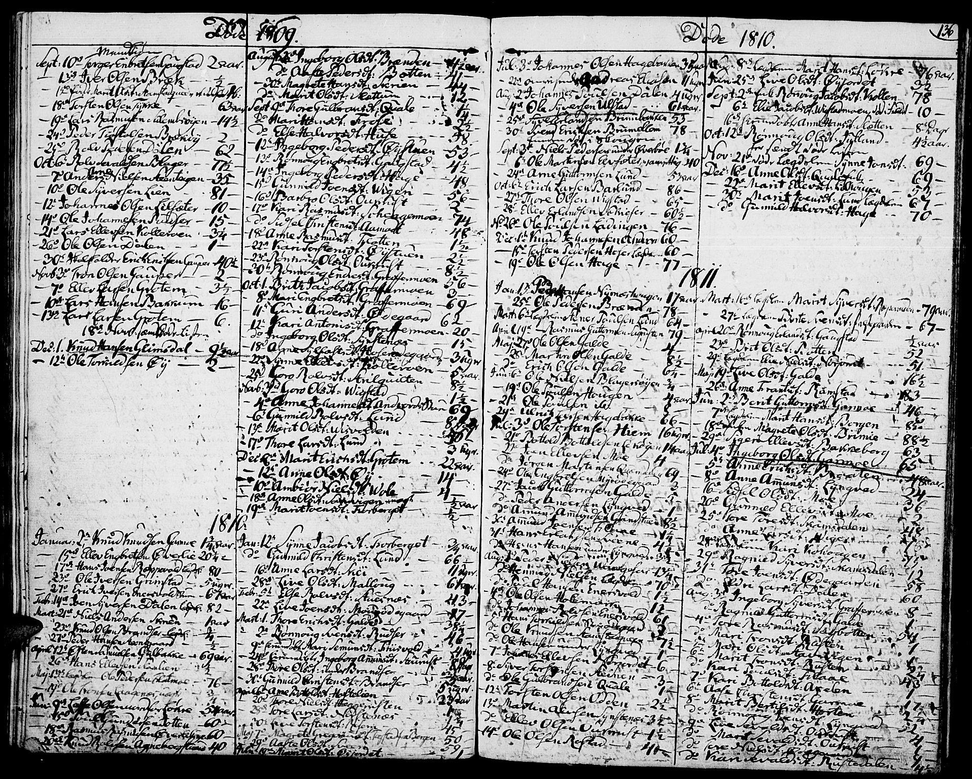 SAH, Lom prestekontor, K/L0003: Ministerialbok nr. 3, 1801-1825, s. 136