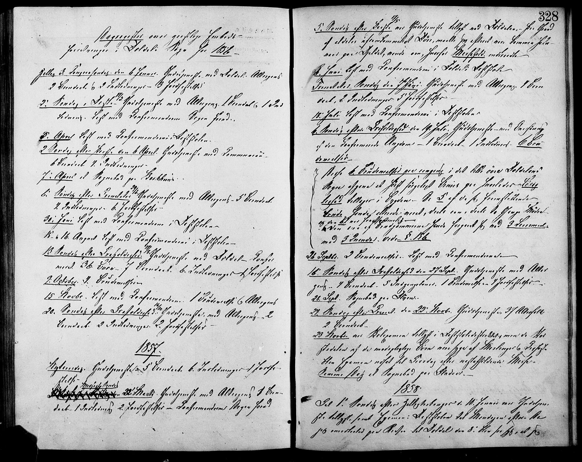 SAH, Lesja prestekontor, Ministerialbok nr. 7, 1854-1862, s. 328