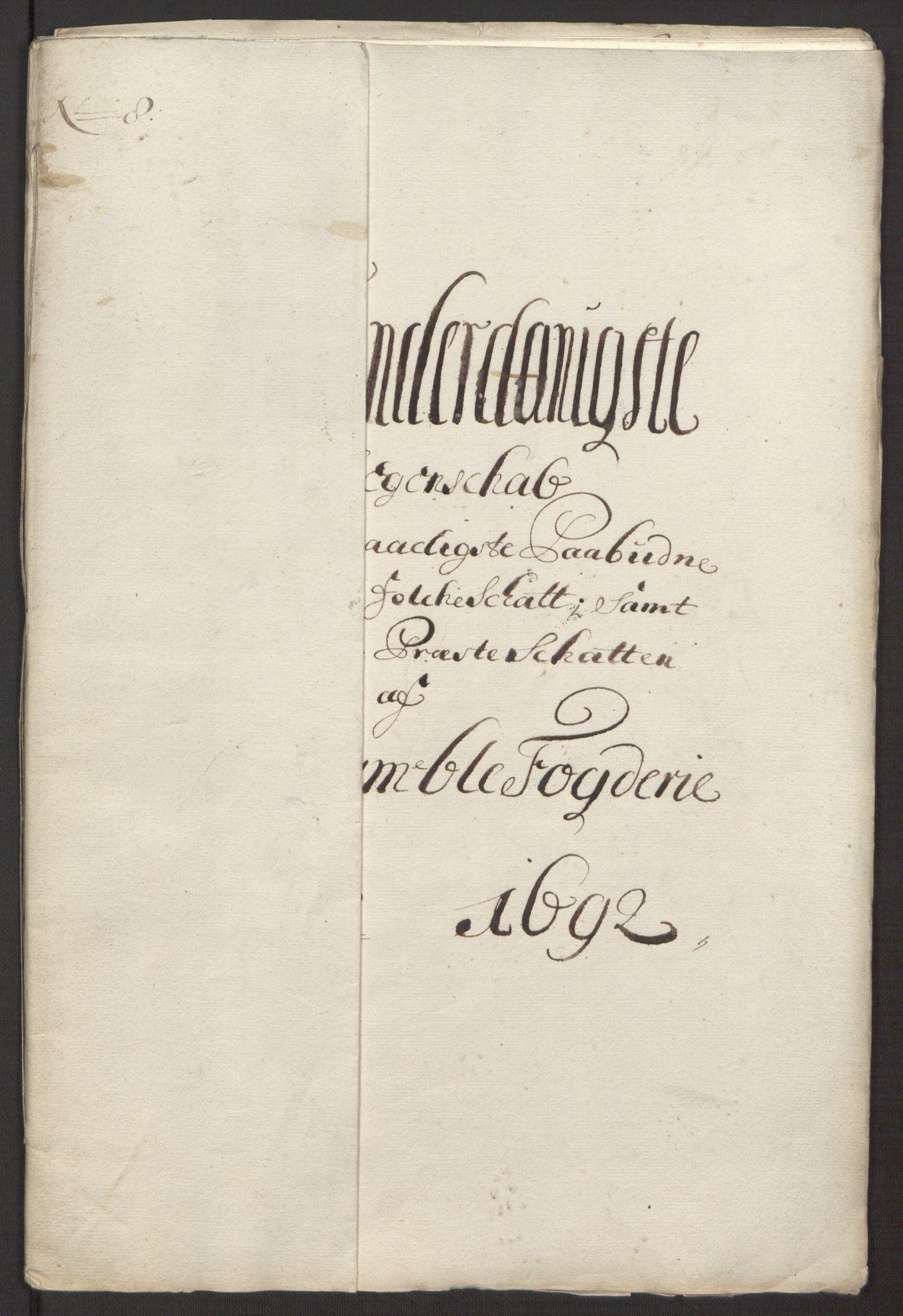 RA, Rentekammeret inntil 1814, Reviderte regnskaper, Fogderegnskap, R34/L2052: Fogderegnskap Bamble, 1692-1693, s. 198