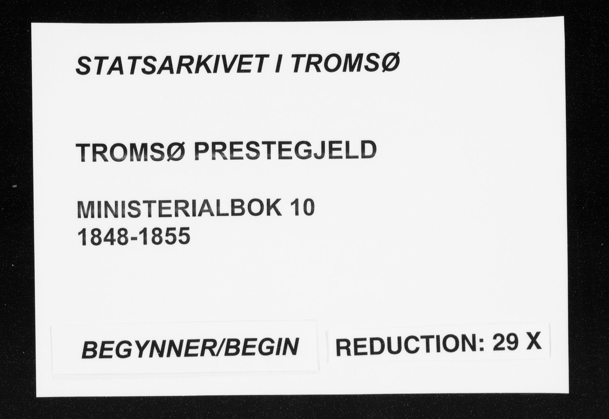 SATØ, Tromsø sokneprestkontor/stiftsprosti/domprosti, G/Ga/L0010kirke: Ministerialbok nr. 10, 1848-1855