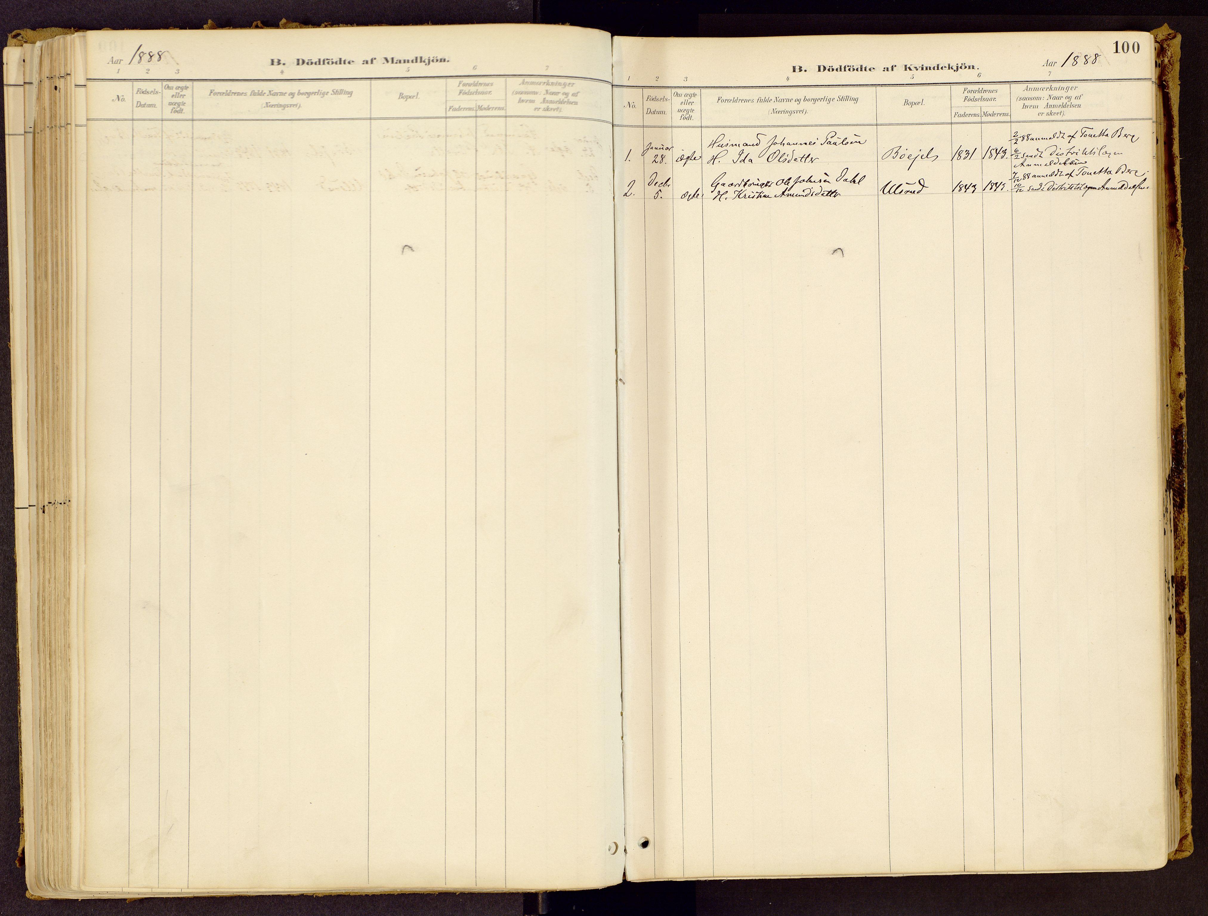 SAH, Vestre Gausdal prestekontor, Ministerialbok nr. 1, 1887-1914, s. 100