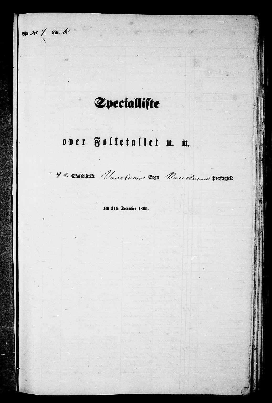 RA, Folketelling 1865 for 1511P Vanylven prestegjeld, 1865, s. 68