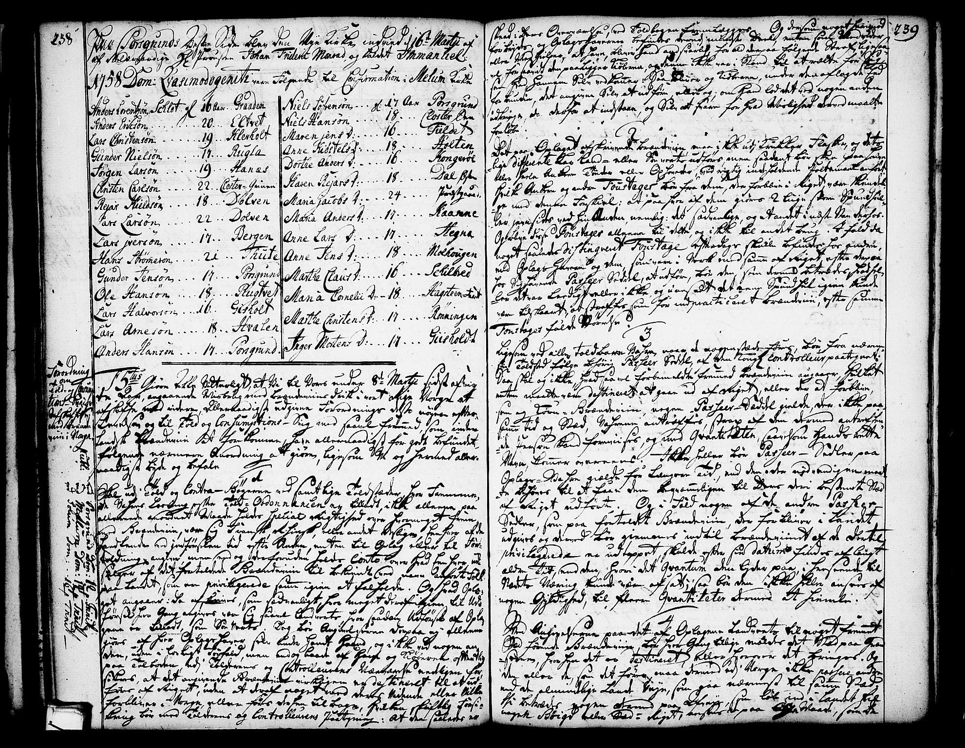 SAKO, Solum kirkebøker, Annen kirkebok nr. ?, 1743-1791, s. 238-239