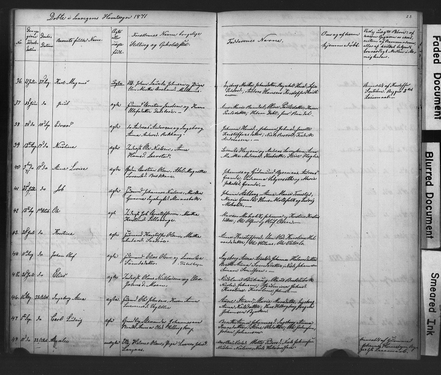SAT, Ministerialprotokoller, klokkerbøker og fødselsregistre - Nord-Trøndelag, 701/L0018: Klokkerbok nr. 701C02, 1868-1872, s. 22