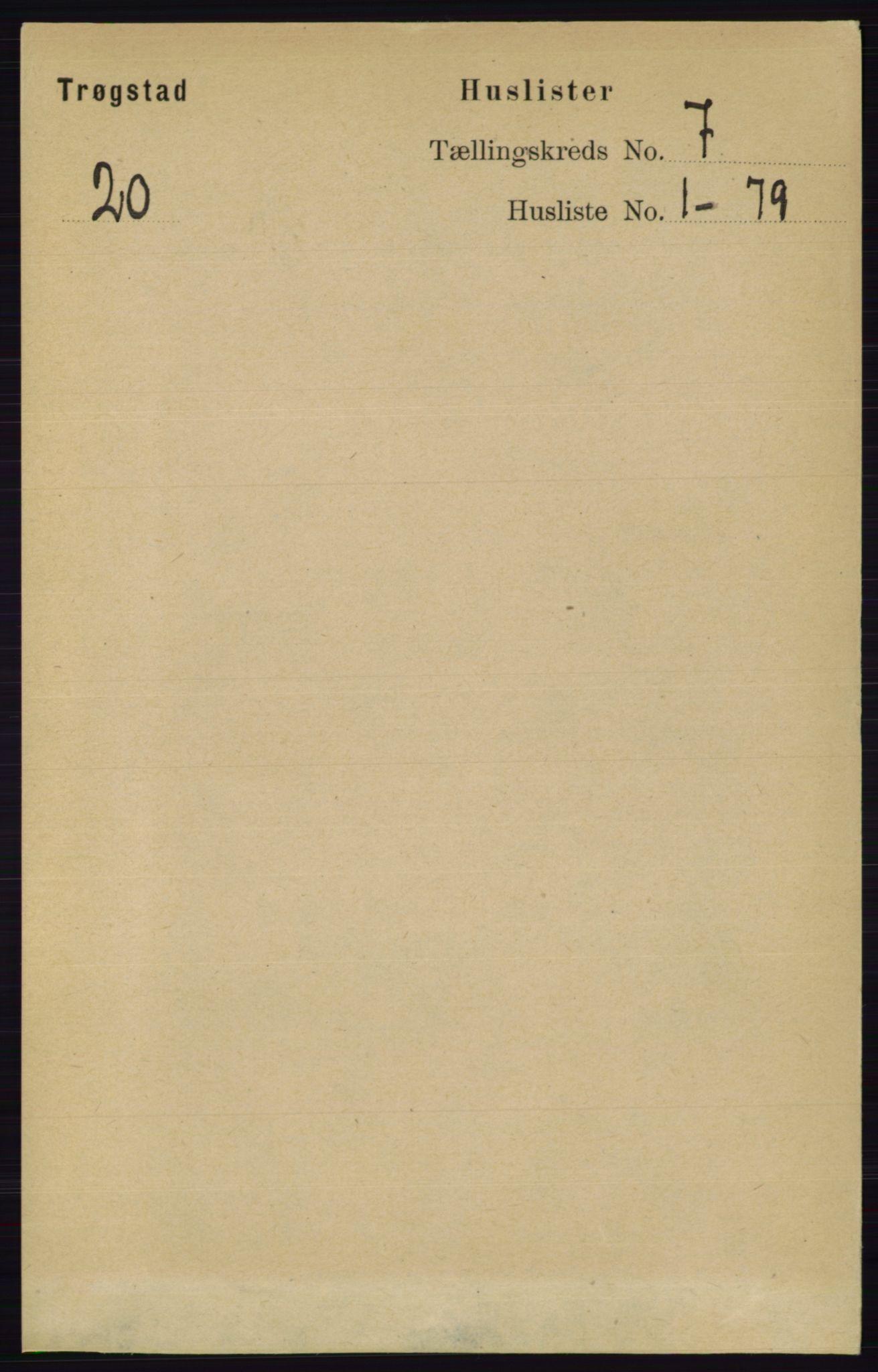 RA, Folketelling 1891 for 0122 Trøgstad herred, 1891, s. 2840