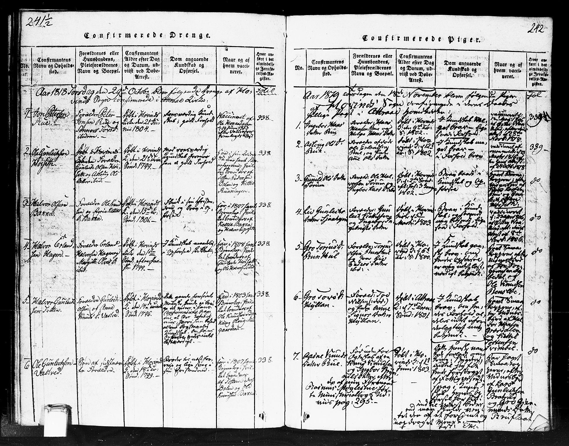 SAKO, Gransherad kirkebøker, F/Fb/L0002: Ministerialbok nr. II 2, 1815-1843, s. 242