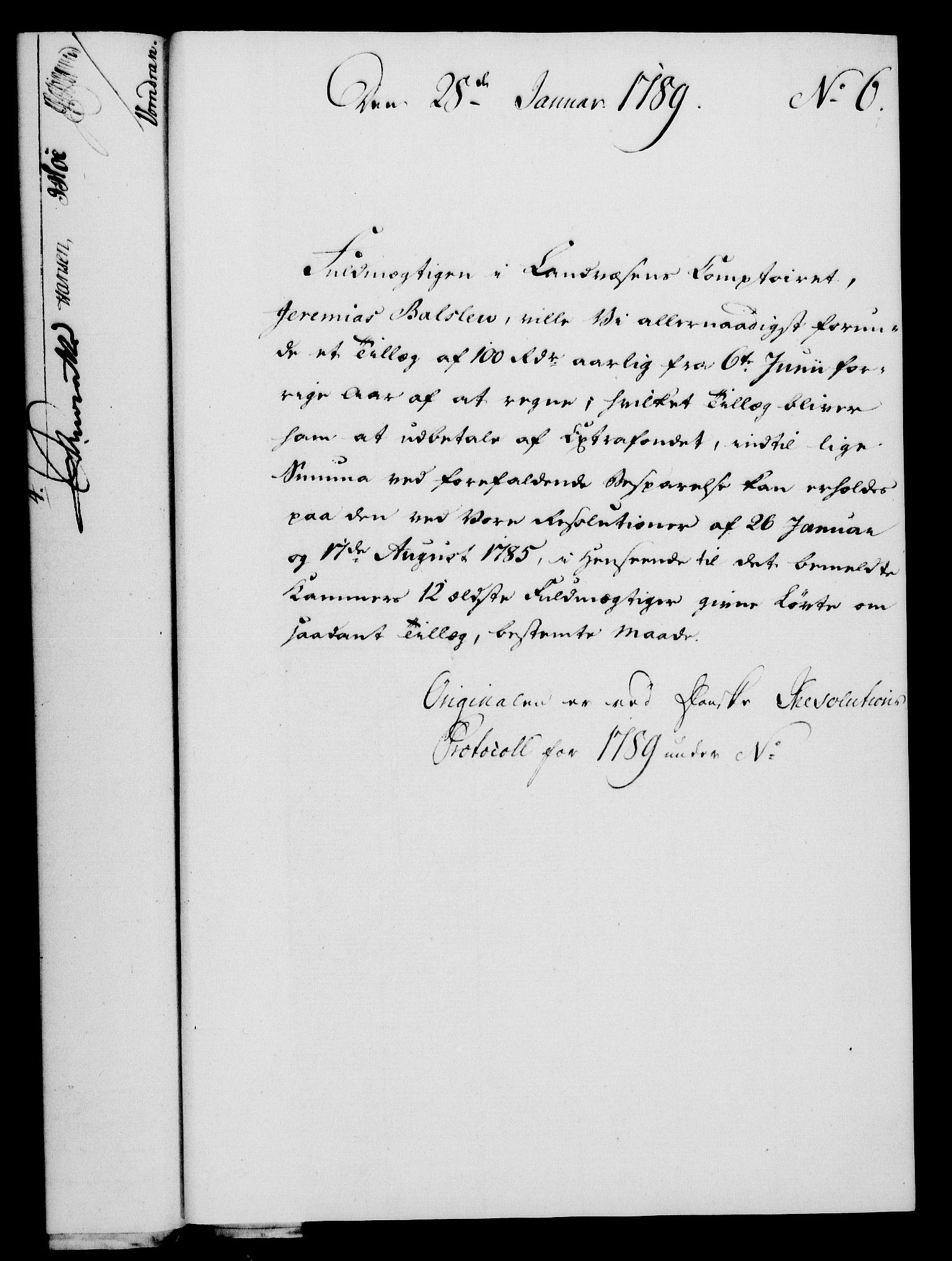 RA, Rentekammeret, Kammerkanselliet, G/Gf/Gfa/L0071: Norsk relasjons- og resolusjonsprotokoll (merket RK 52.71), 1789, s. 61