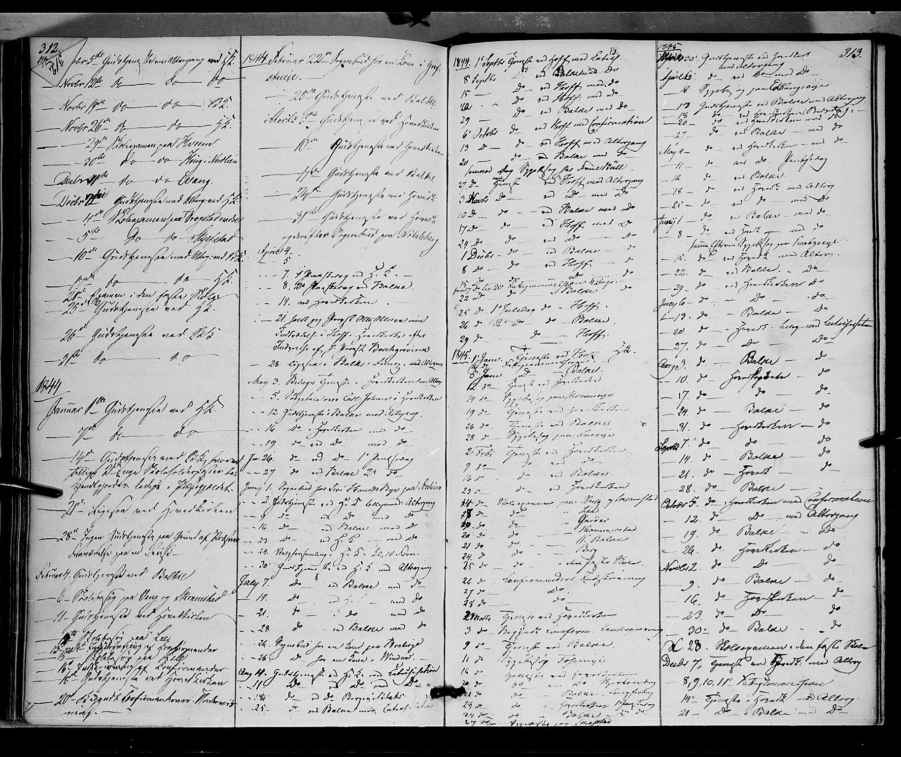 SAH, Østre Toten prestekontor, Ministerialbok nr. 2, 1840-1847, s. 313