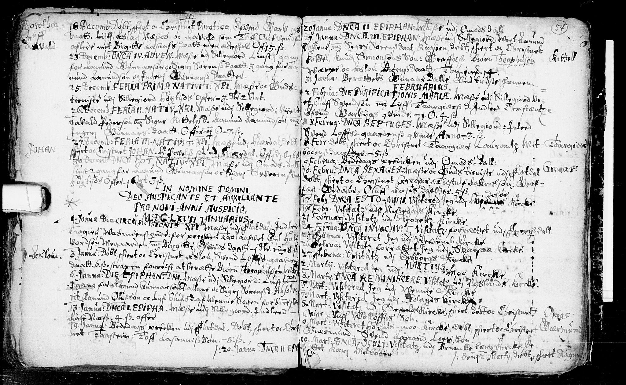 SAKO, Seljord kirkebøker, F/Fa/L0001: Ministerialbok nr. I 1, 1654-1686, s. 54