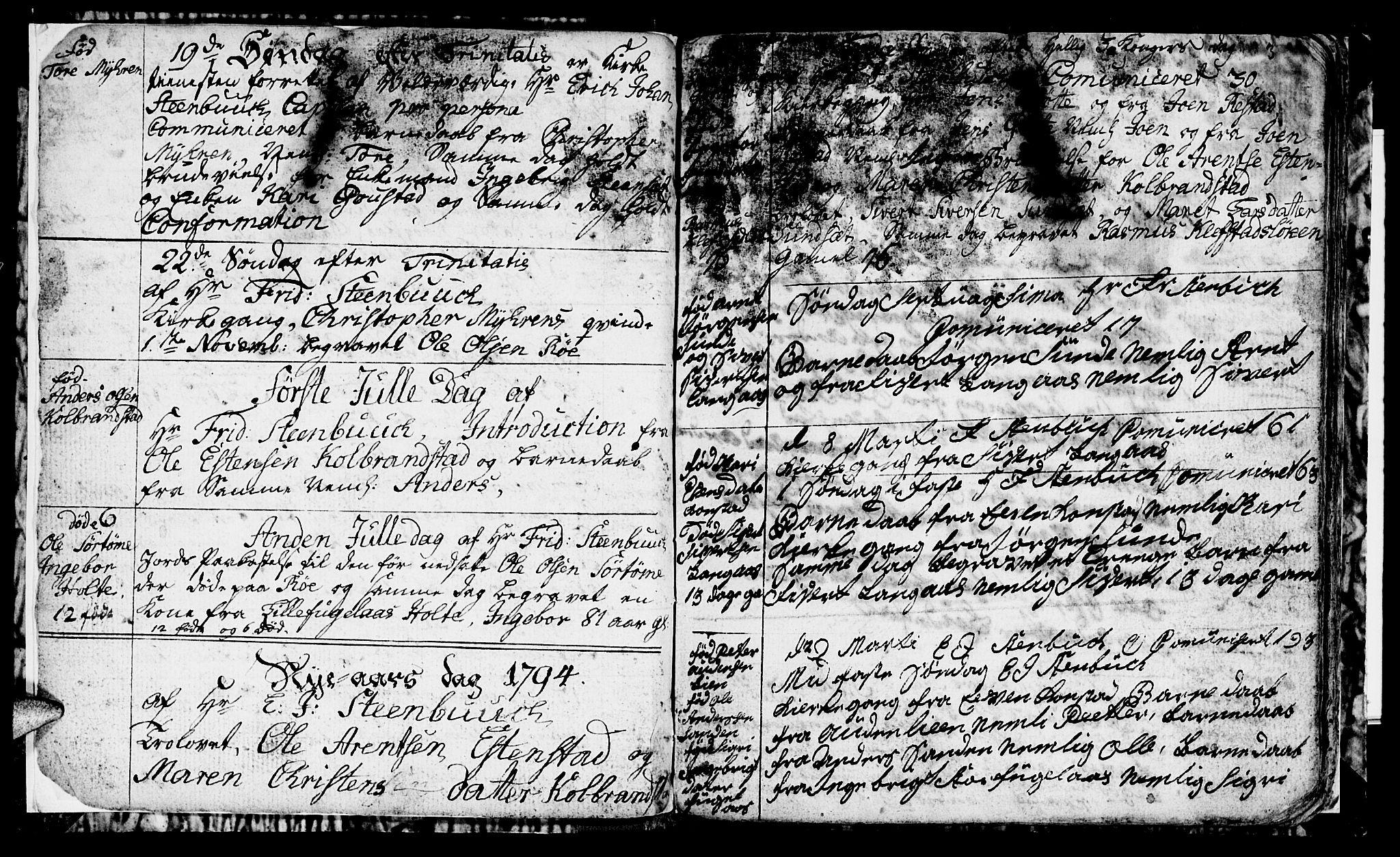 SAT, Ministerialprotokoller, klokkerbøker og fødselsregistre - Sør-Trøndelag, 694/L1129: Klokkerbok nr. 694C01, 1793-1815, s. 3