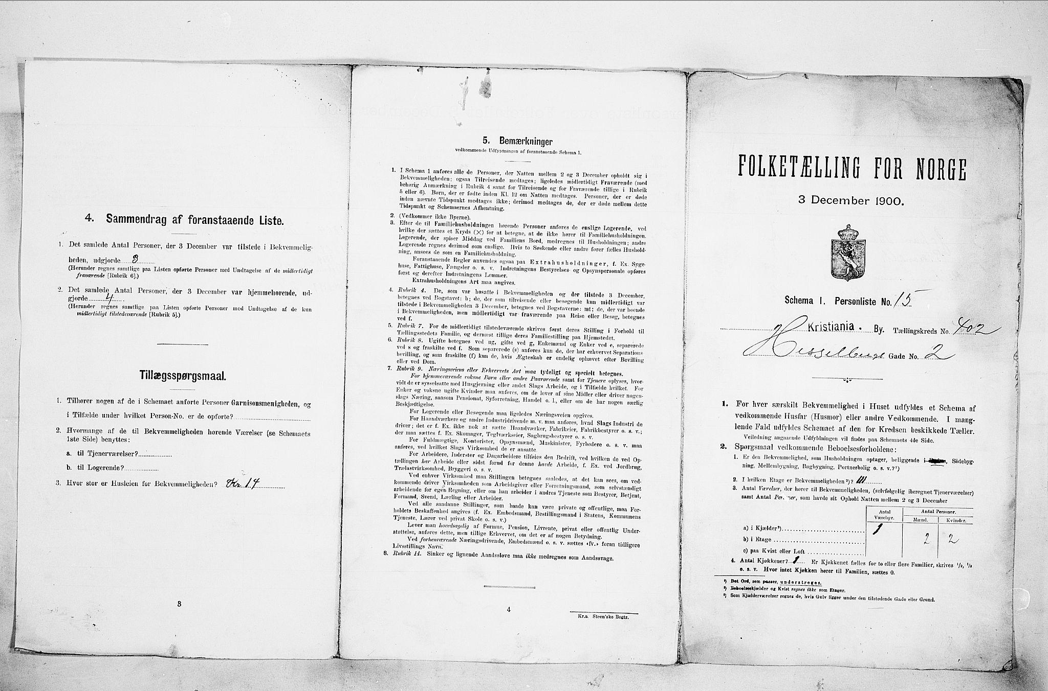 SAO, Folketelling 1900 for 0301 Kristiania kjøpstad, 1900, s. 37567