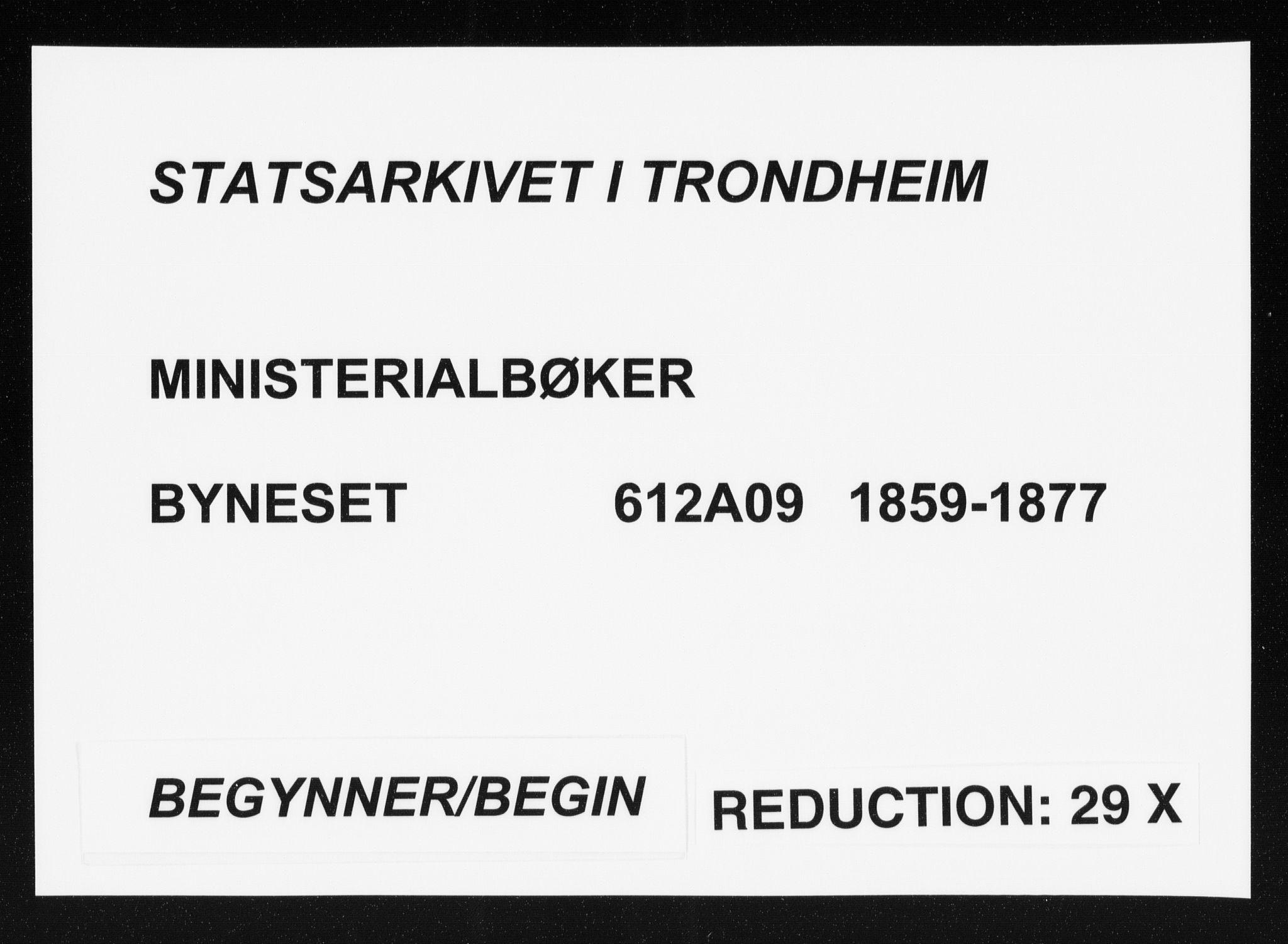 SAT, Ministerialprotokoller, klokkerbøker og fødselsregistre - Sør-Trøndelag, 612/L0377: Ministerialbok nr. 612A09, 1859-1877