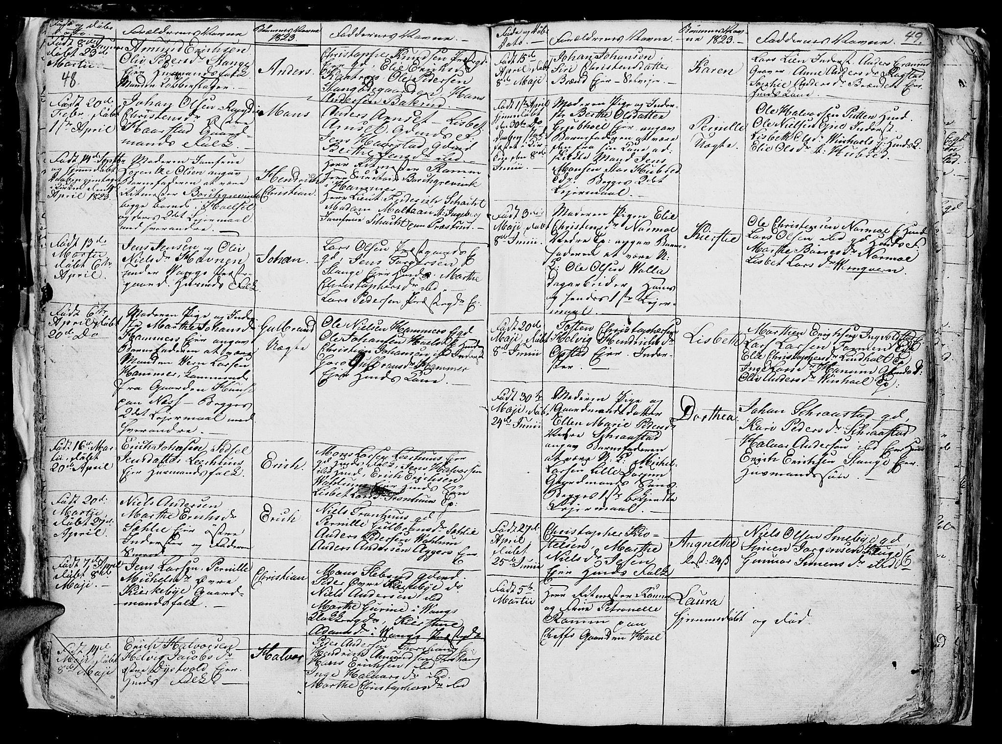 SAH, Vang prestekontor, Hedmark, H/Ha/Hab/L0006: Klokkerbok nr. 6, 1819-1832, s. 48-49