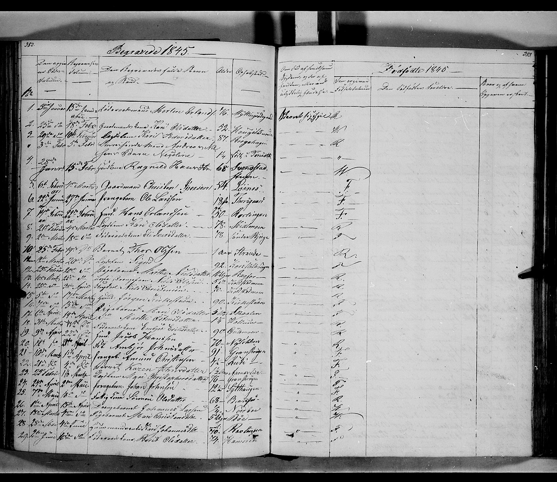 SAH, Ringebu prestekontor, Ministerialbok nr. 5, 1839-1848, s. 382-383
