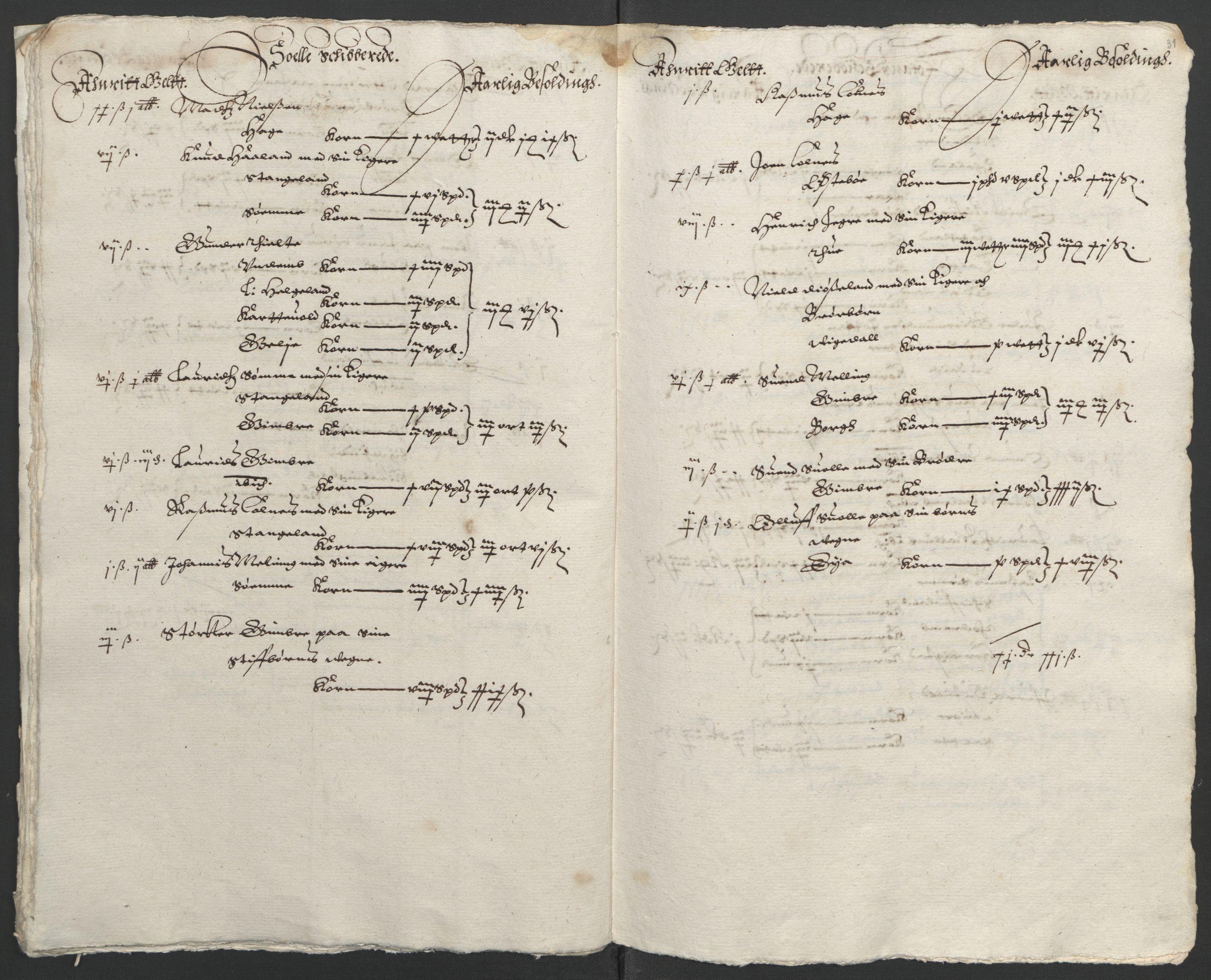 RA, Stattholderembetet 1572-1771, Ek/L0010: Jordebøker til utlikning av rosstjeneste 1624-1626:, 1624-1626, s. 125