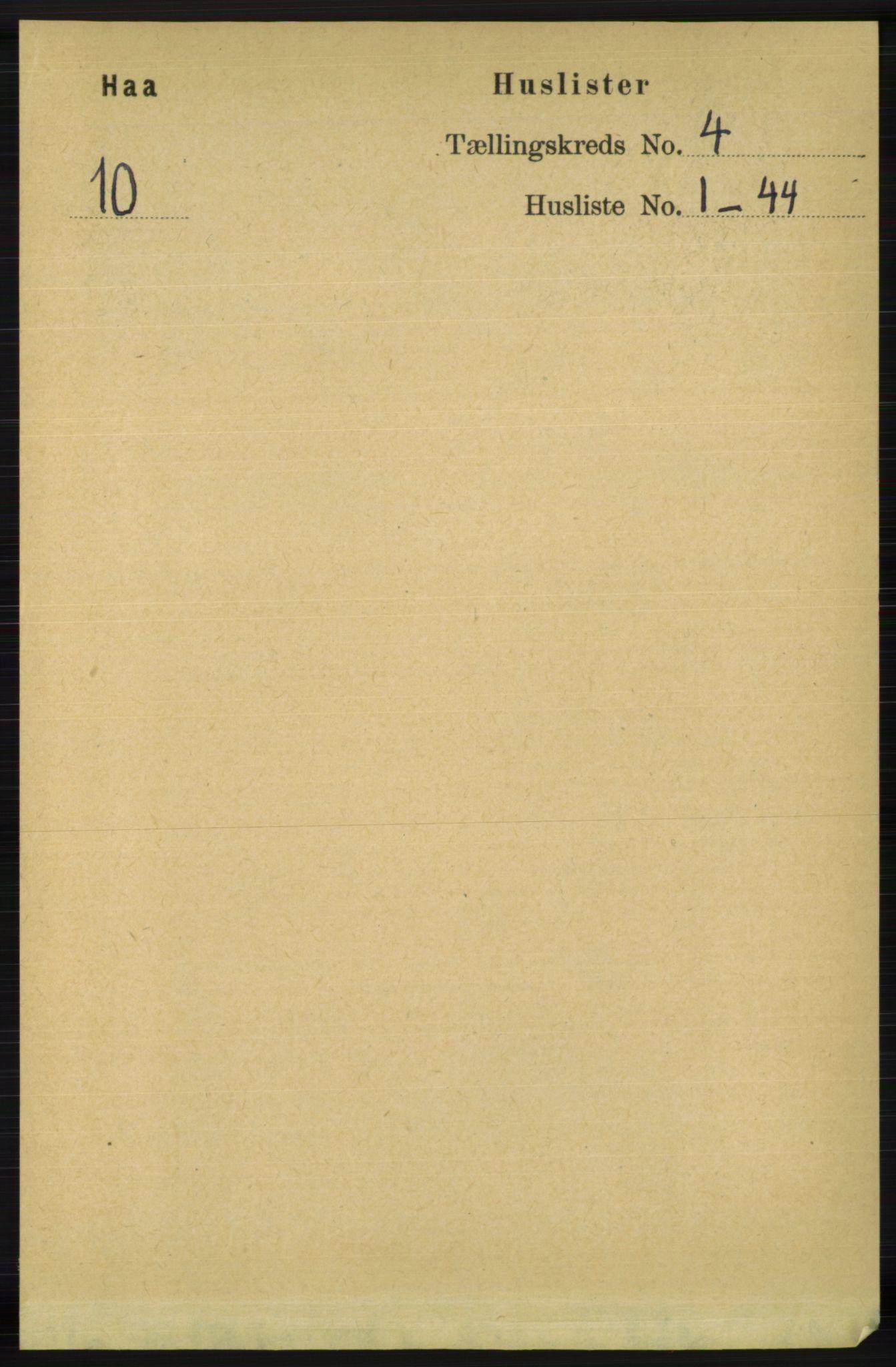 RA, Folketelling 1891 for 1119 Hå herred, 1891, s. 1003