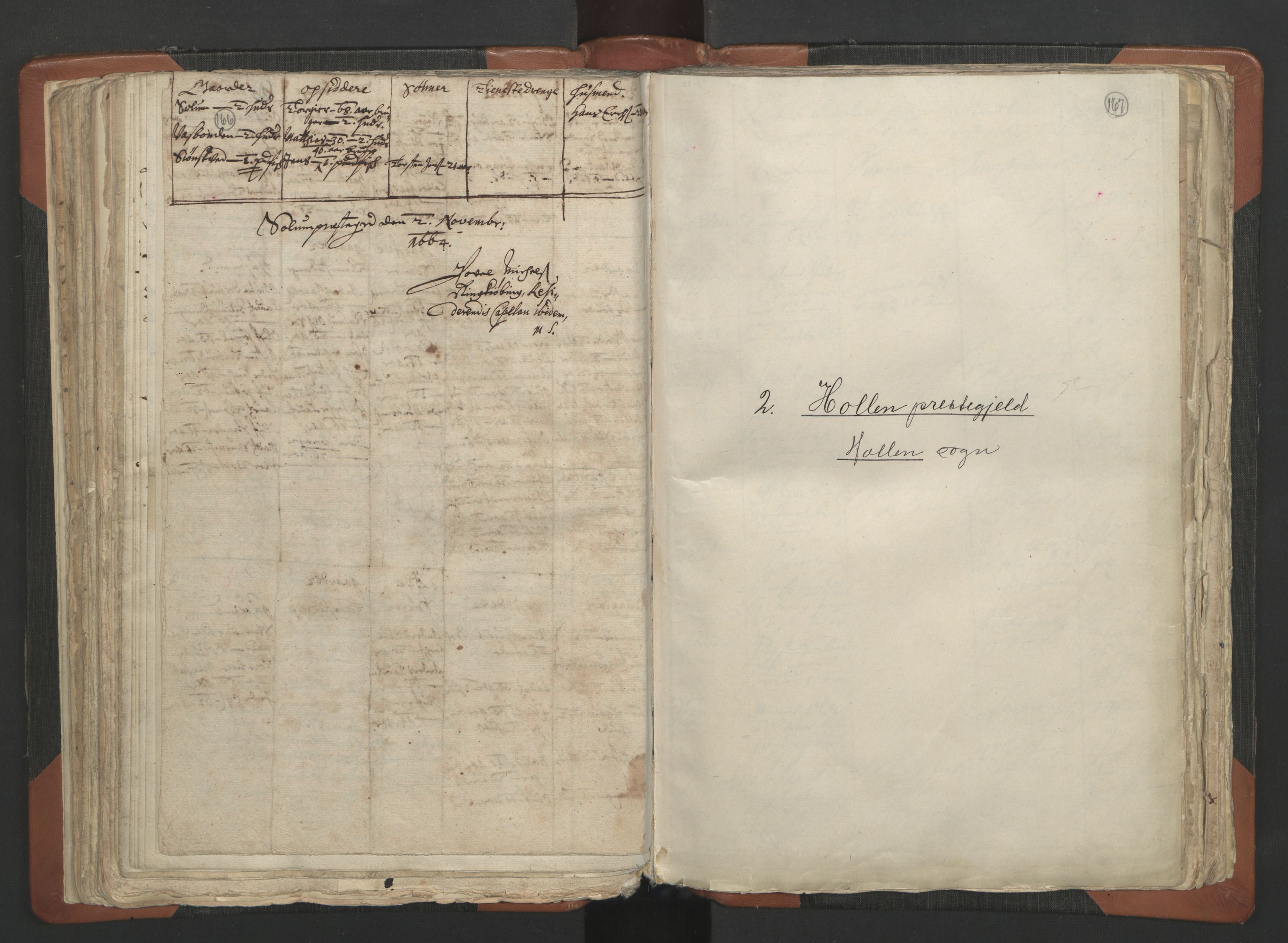 RA, Sogneprestenes manntall 1664-1666, nr. 12: Øvre Telemark prosti, Nedre Telemark prosti og Bamble prosti, 1664-1666, s. 166-167