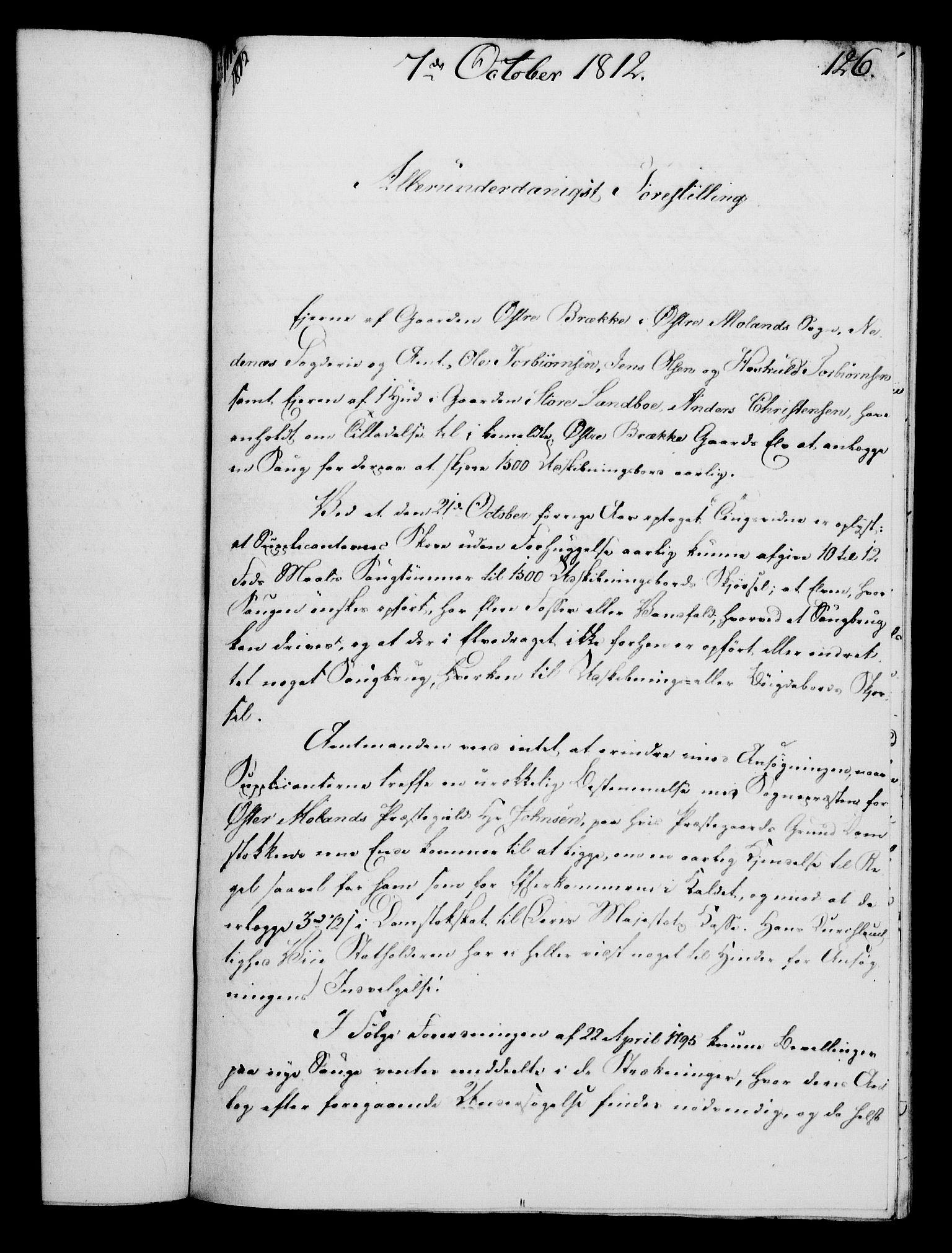 RA, Rentekammeret, Kammerkanselliet, G/Gf/Gfa/L0094: Norsk relasjons- og resolusjonsprotokoll (merket RK 52.94), 1812, s. 495