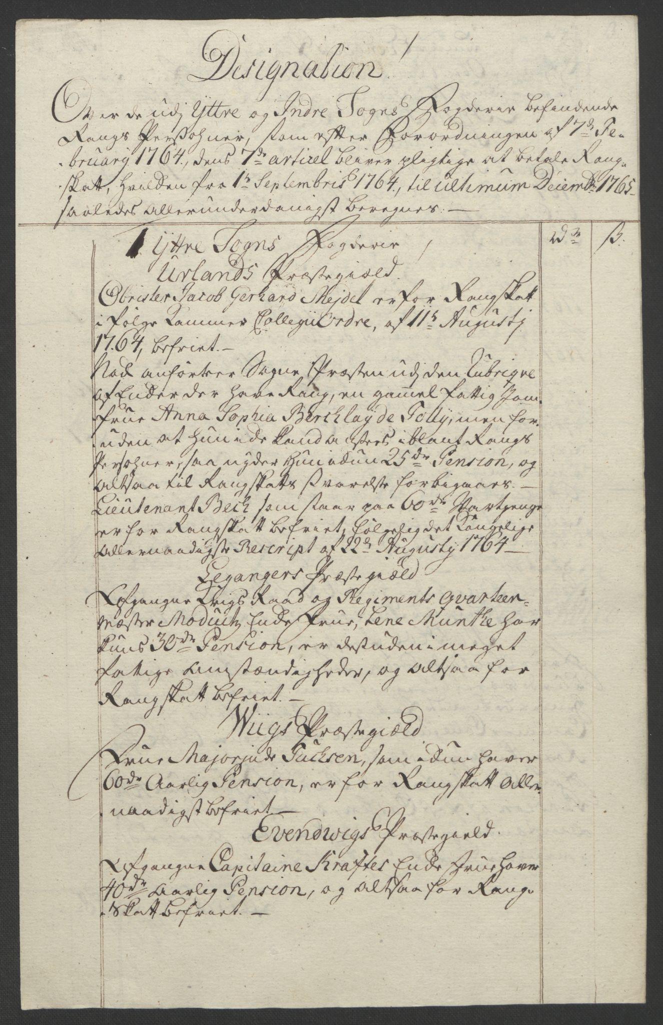 RA, Rentekammeret inntil 1814, Realistisk ordnet avdeling, Ol/L0018: [Gg 10]: Ekstraskatten, 23.09.1762. Sogn, 1762-1772, s. 128