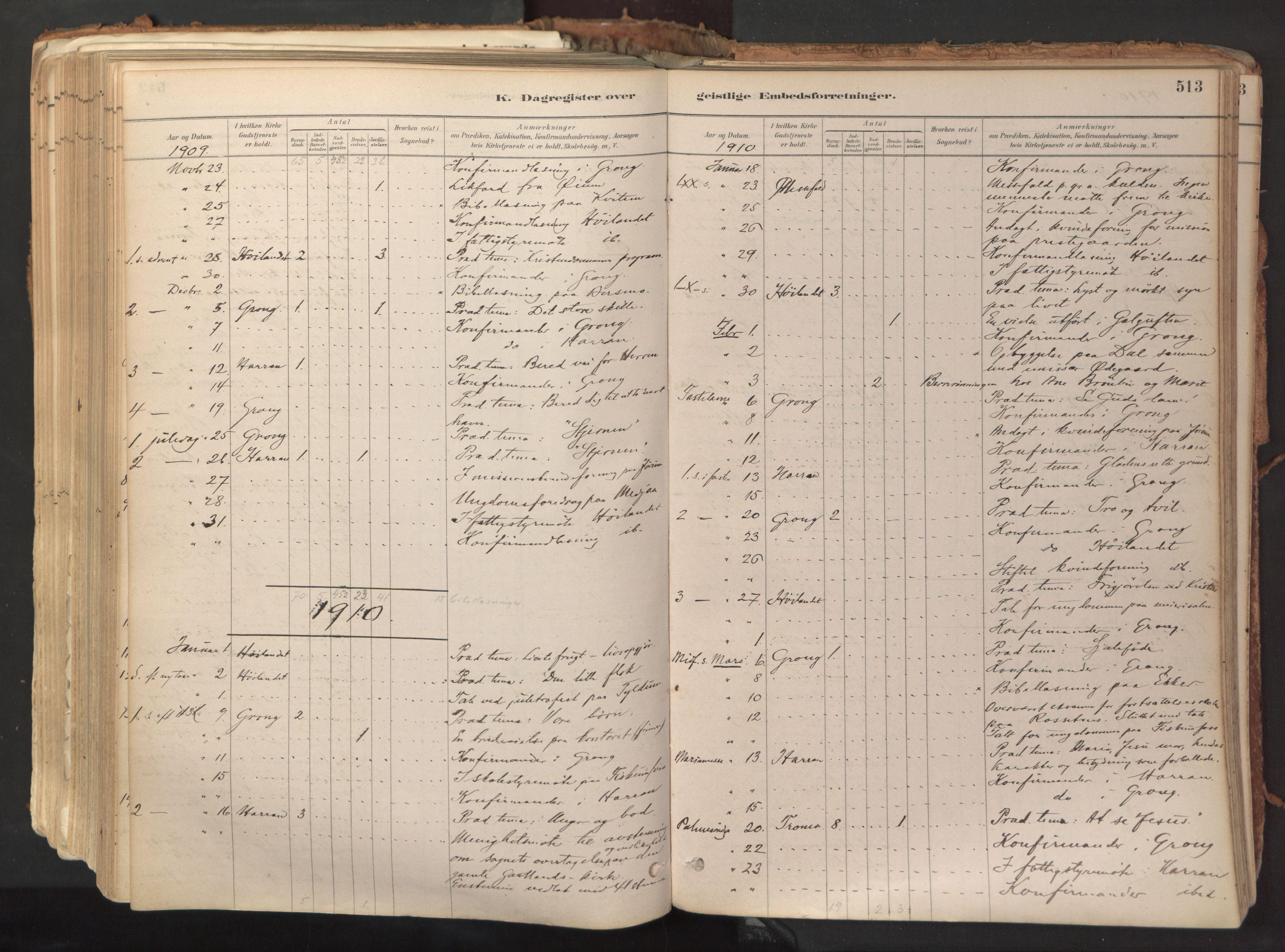 SAT, Ministerialprotokoller, klokkerbøker og fødselsregistre - Nord-Trøndelag, 758/L0519: Ministerialbok nr. 758A04, 1880-1926, s. 513