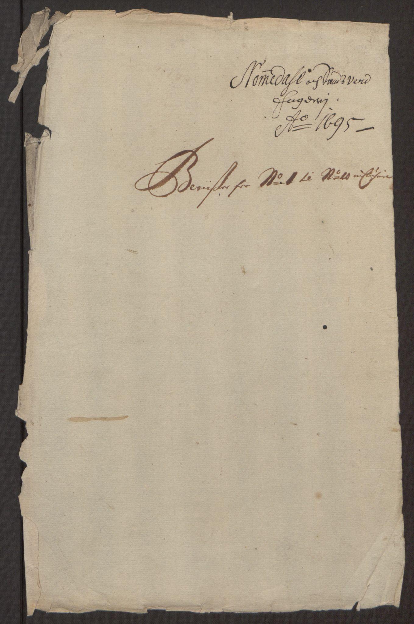 RA, Rentekammeret inntil 1814, Reviderte regnskaper, Fogderegnskap, R24/L1575: Fogderegnskap Numedal og Sandsvær, 1692-1695, s. 489