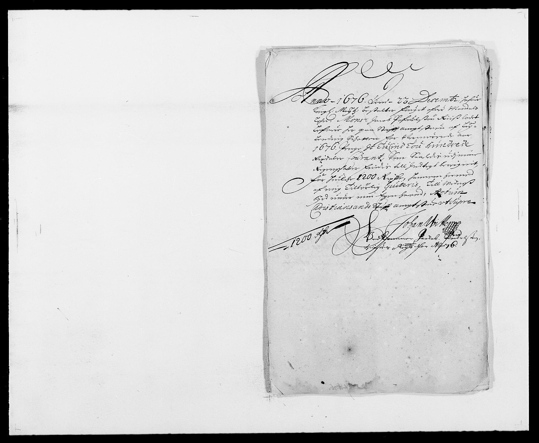 RA, Rentekammeret inntil 1814, Reviderte regnskaper, Fogderegnskap, R42/L2540: Mandal fogderi, 1676-1680, s. 26