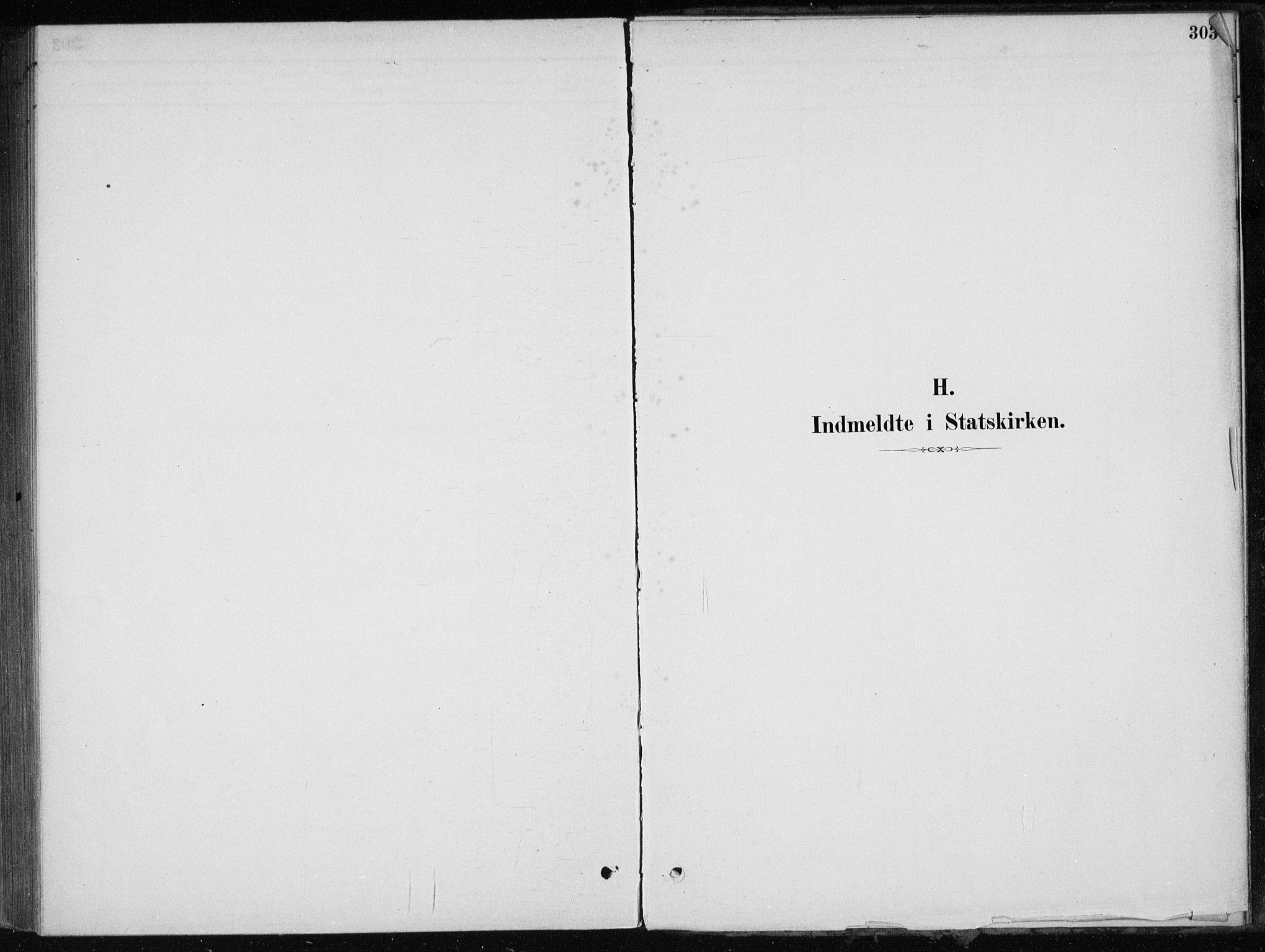 SAB, Skånevik Sokneprestembete, H/Haa: Ministerialbok nr. E  1, 1879-1901, s. 303