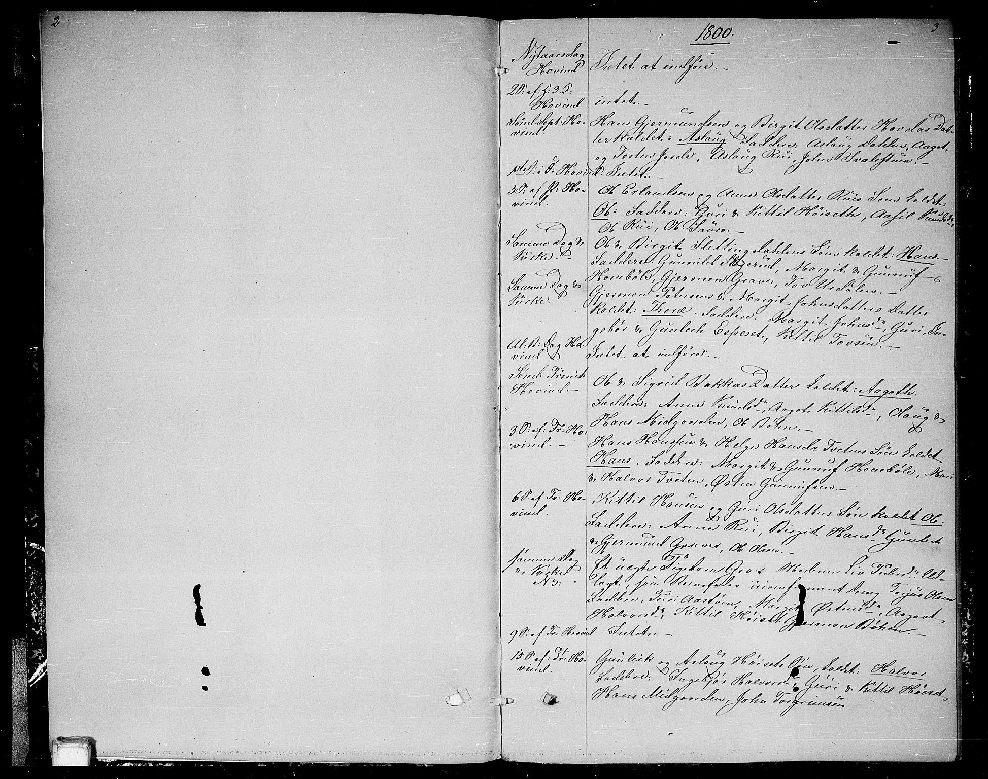 SAKO, Gransherad kirkebøker, F/Fb/L0001: Ministerialbok nr. II 1, 1800-1814, s. 2-3