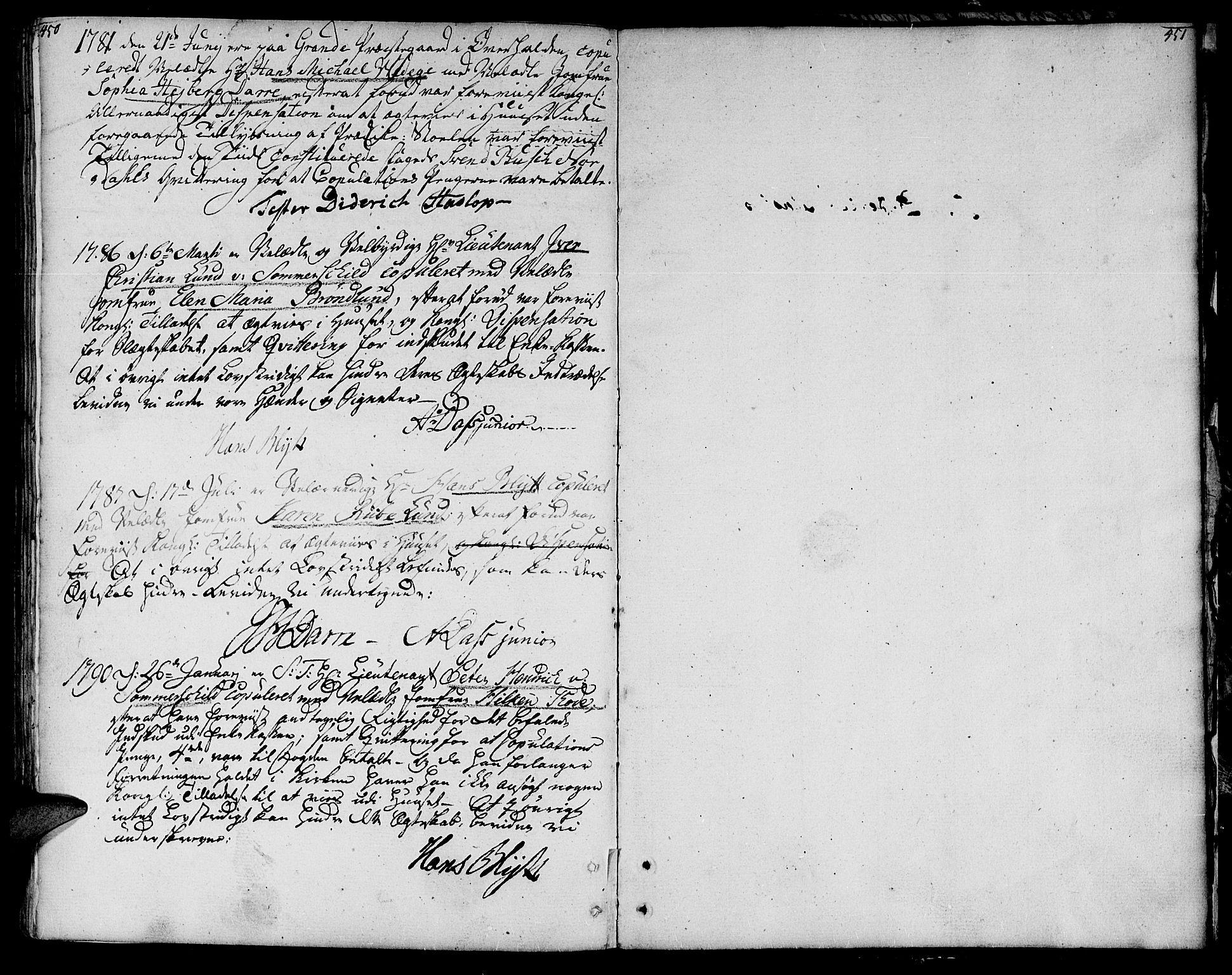 SAT, Ministerialprotokoller, klokkerbøker og fødselsregistre - Nord-Trøndelag, 764/L0544: Ministerialbok nr. 764A04, 1780-1798, s. 450-451