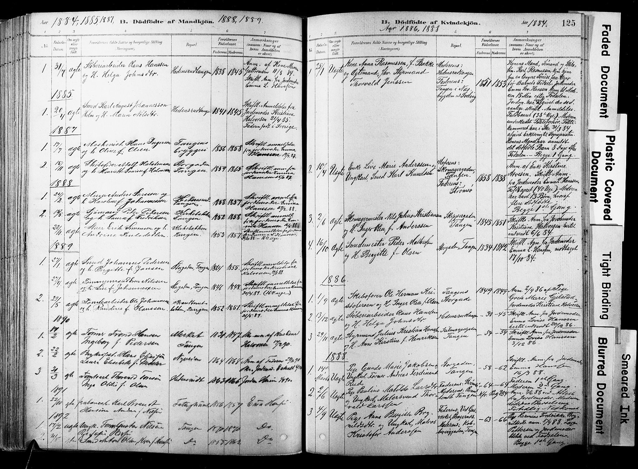 SAKO, Strømsø kirkebøker, F/Fb/L0006: Ministerialbok nr. II 6, 1879-1910, s. 125